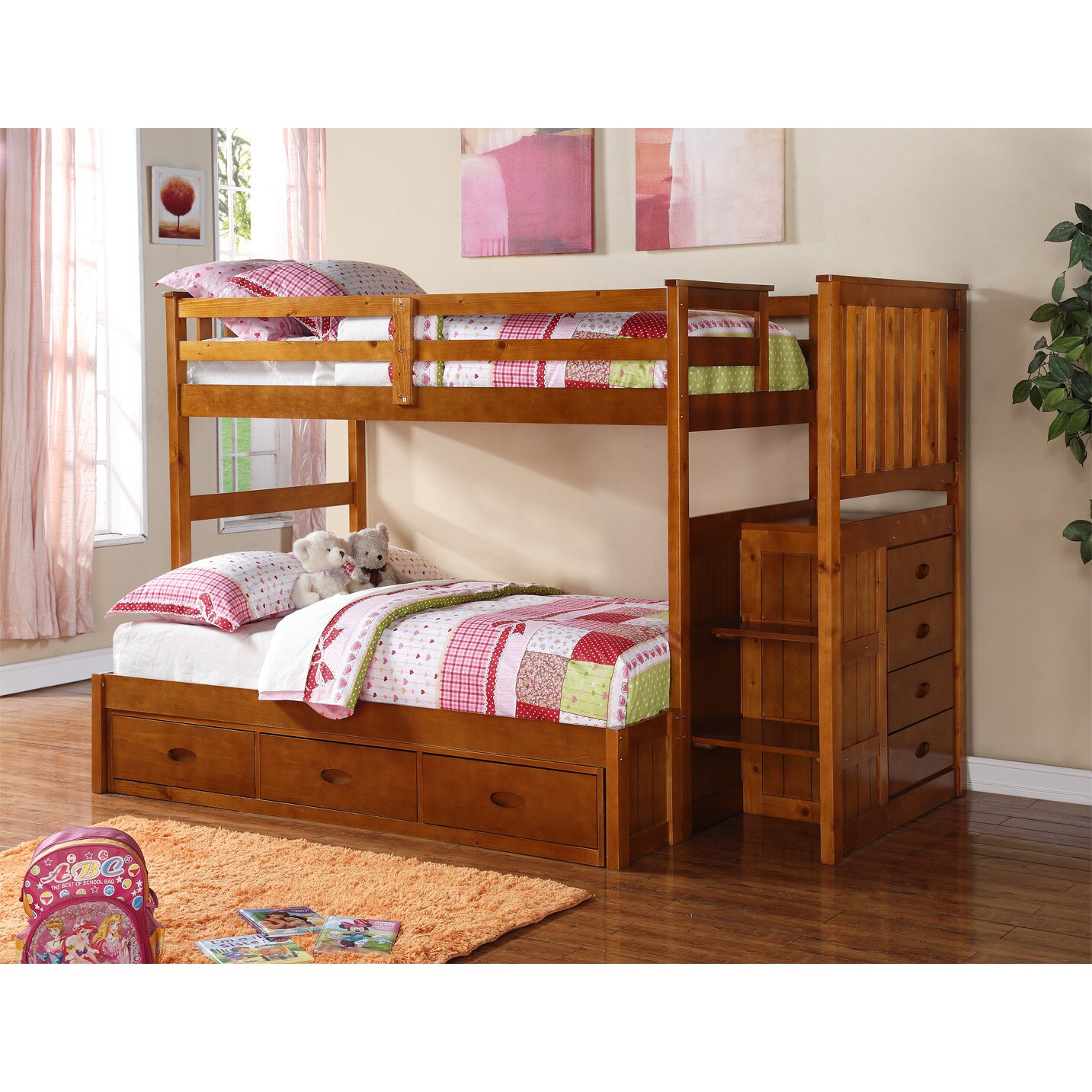 boraam twin over full bunk bed reviews wayfair. Black Bedroom Furniture Sets. Home Design Ideas