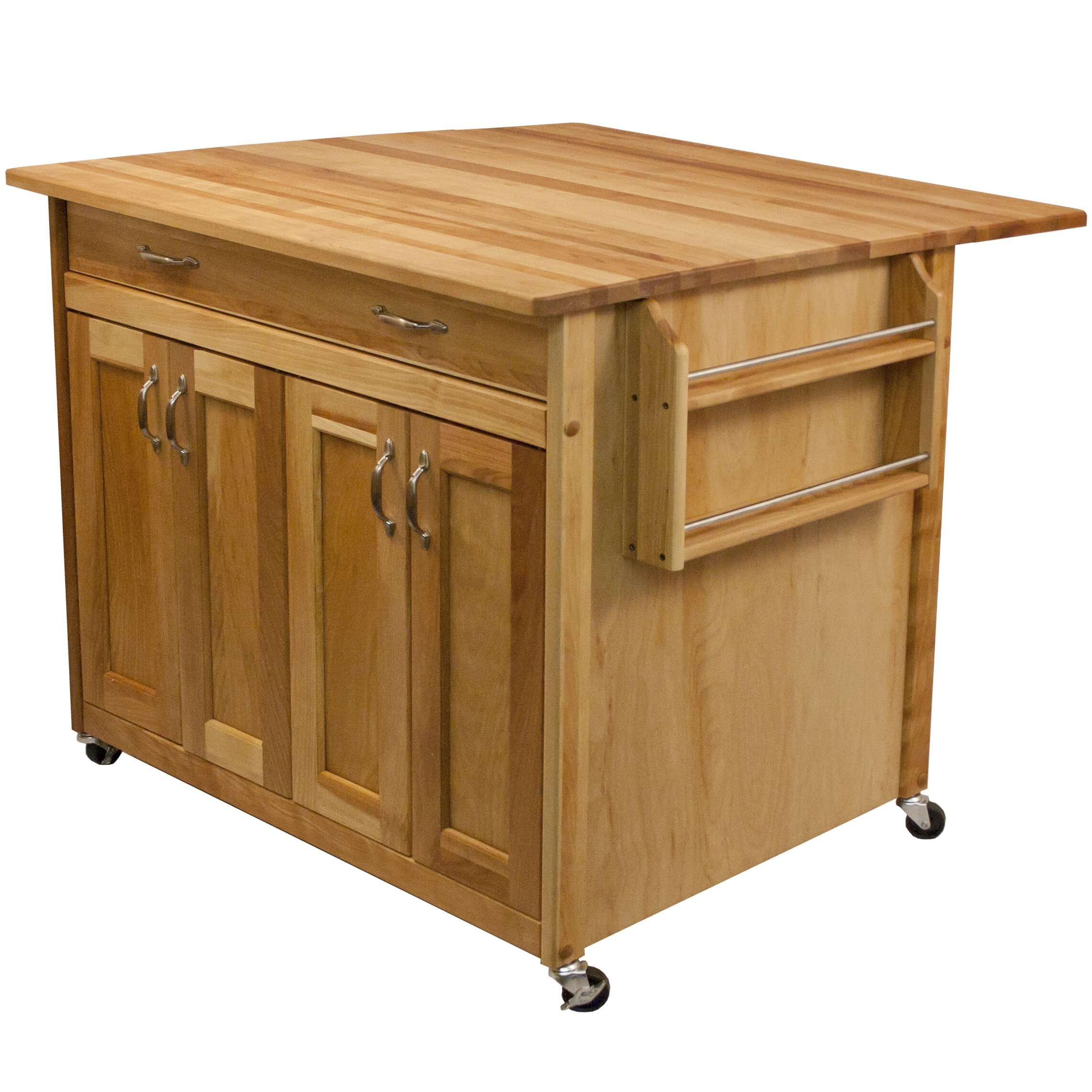 catskill craftsmen kitchen island with butcher block top