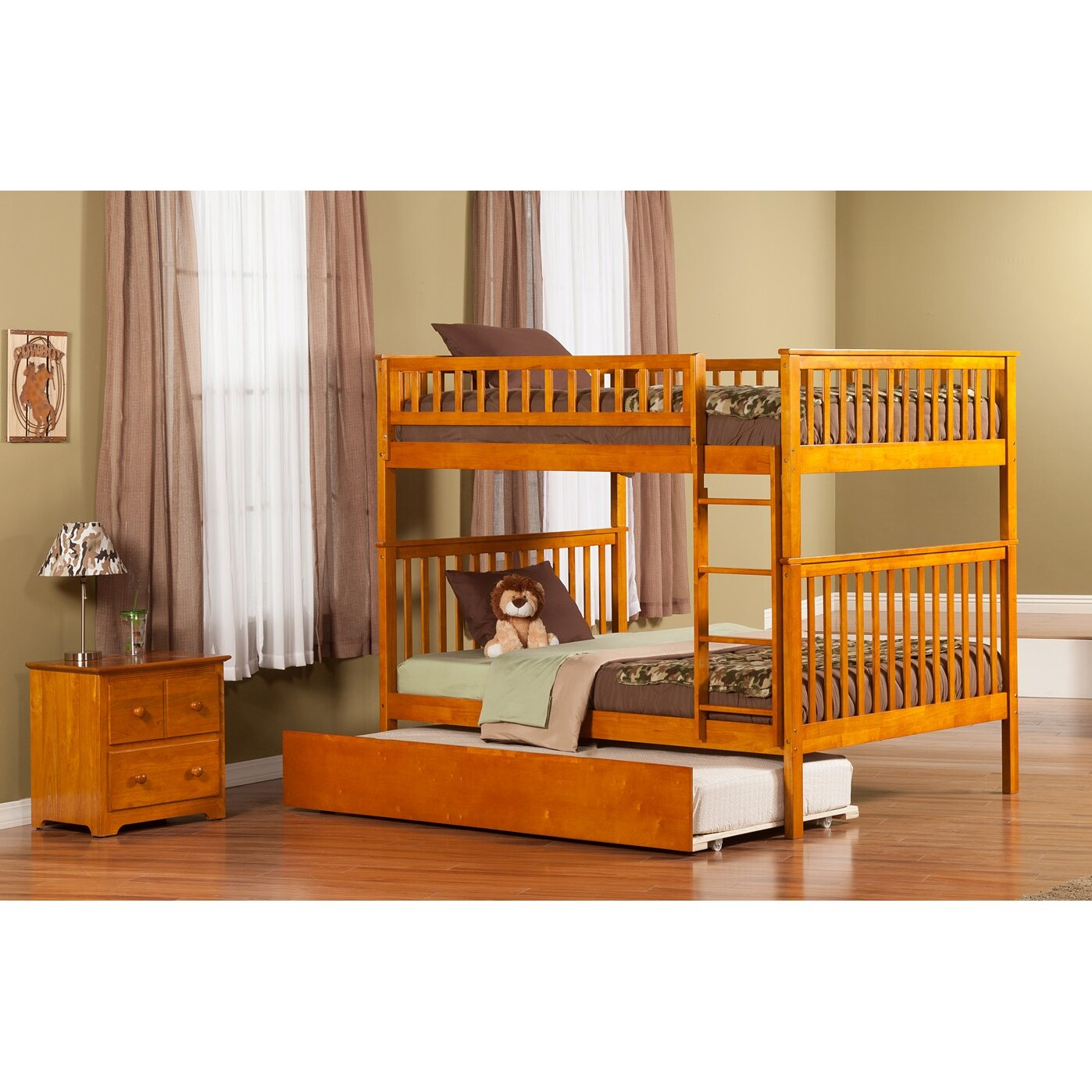 Atlantic Furniture Woodland Full over Full Bunk Bed with