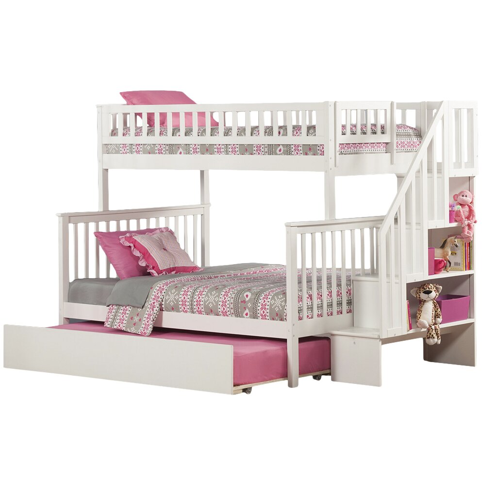 Atlantic Furniture Woodland Twin Over Full Bunk Bed with