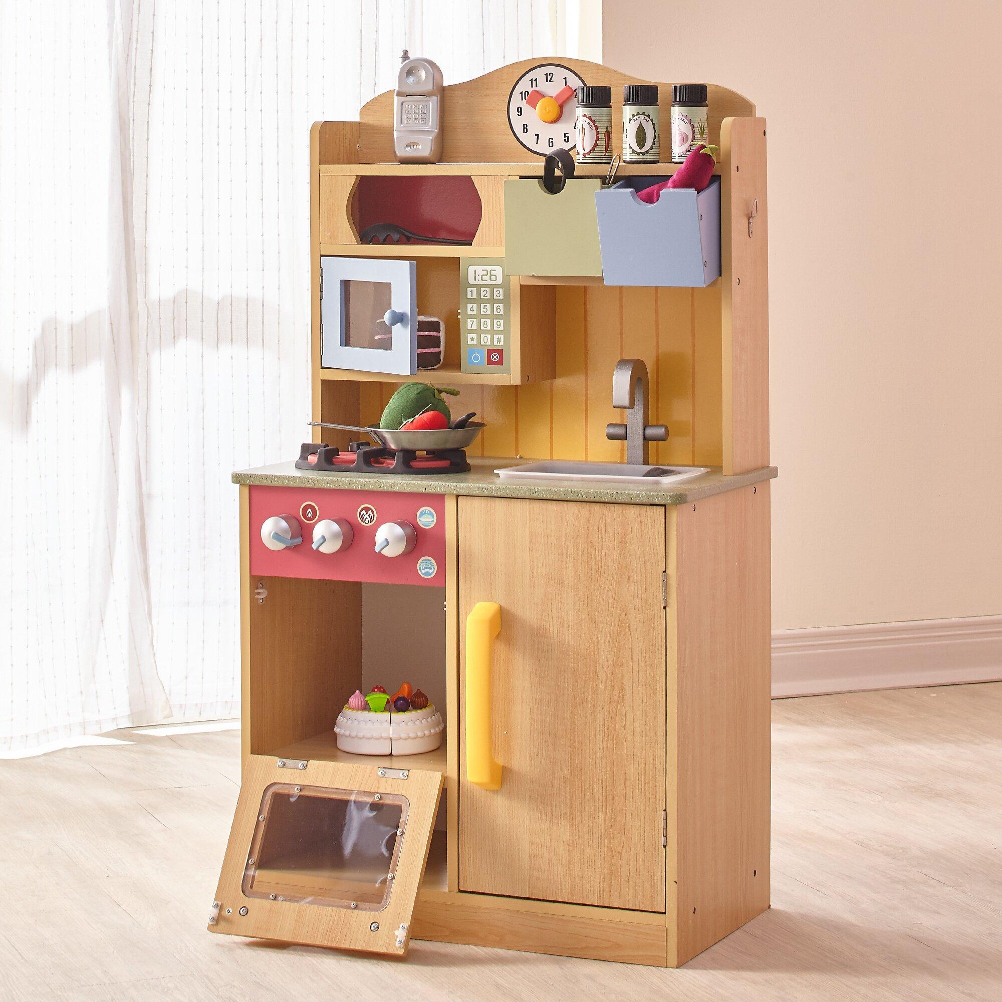 Wooden Kitchen Accessories ~ Teamson kids little chef wooden play kitchen with