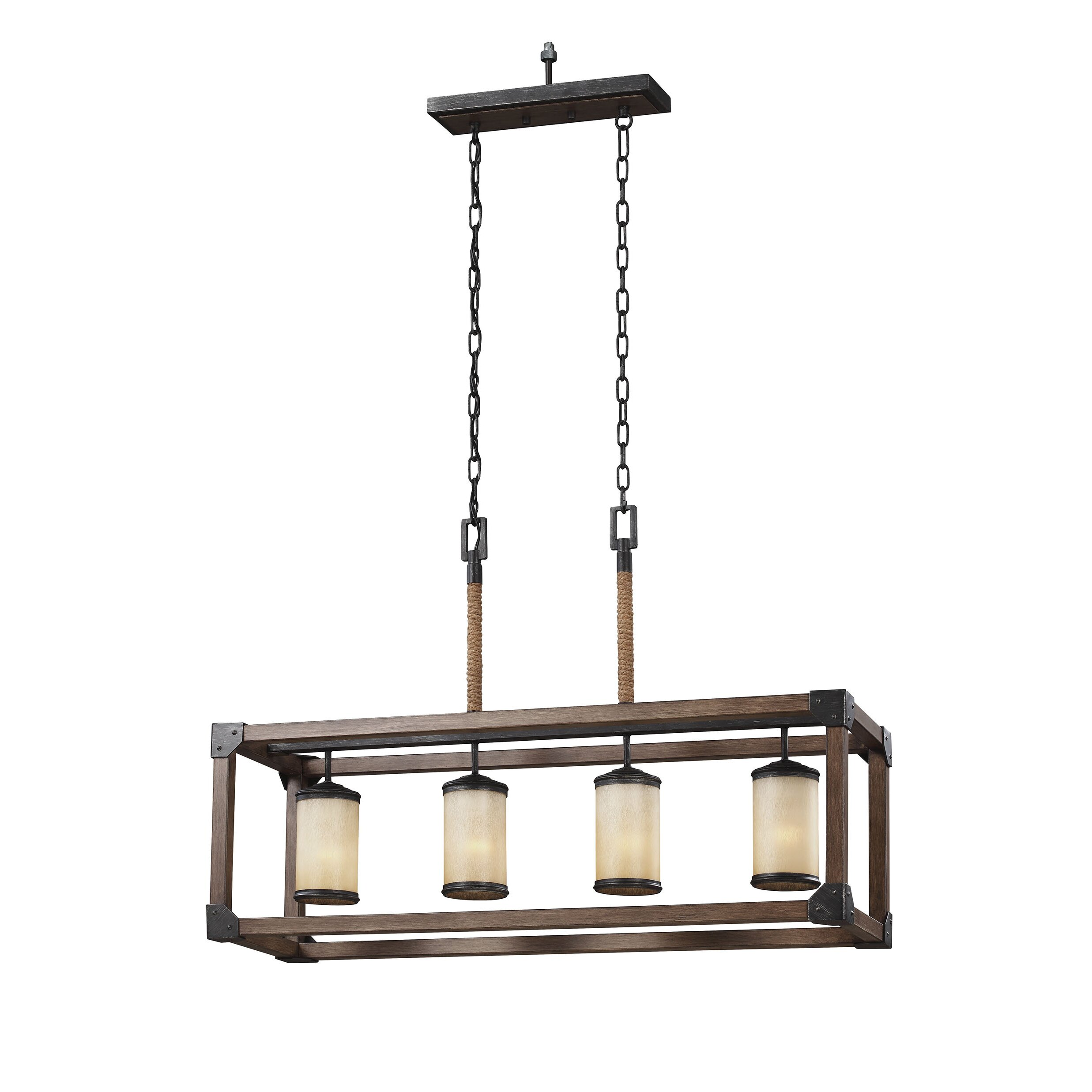 sea gull lighting dunning 4 light kitchen island pendant