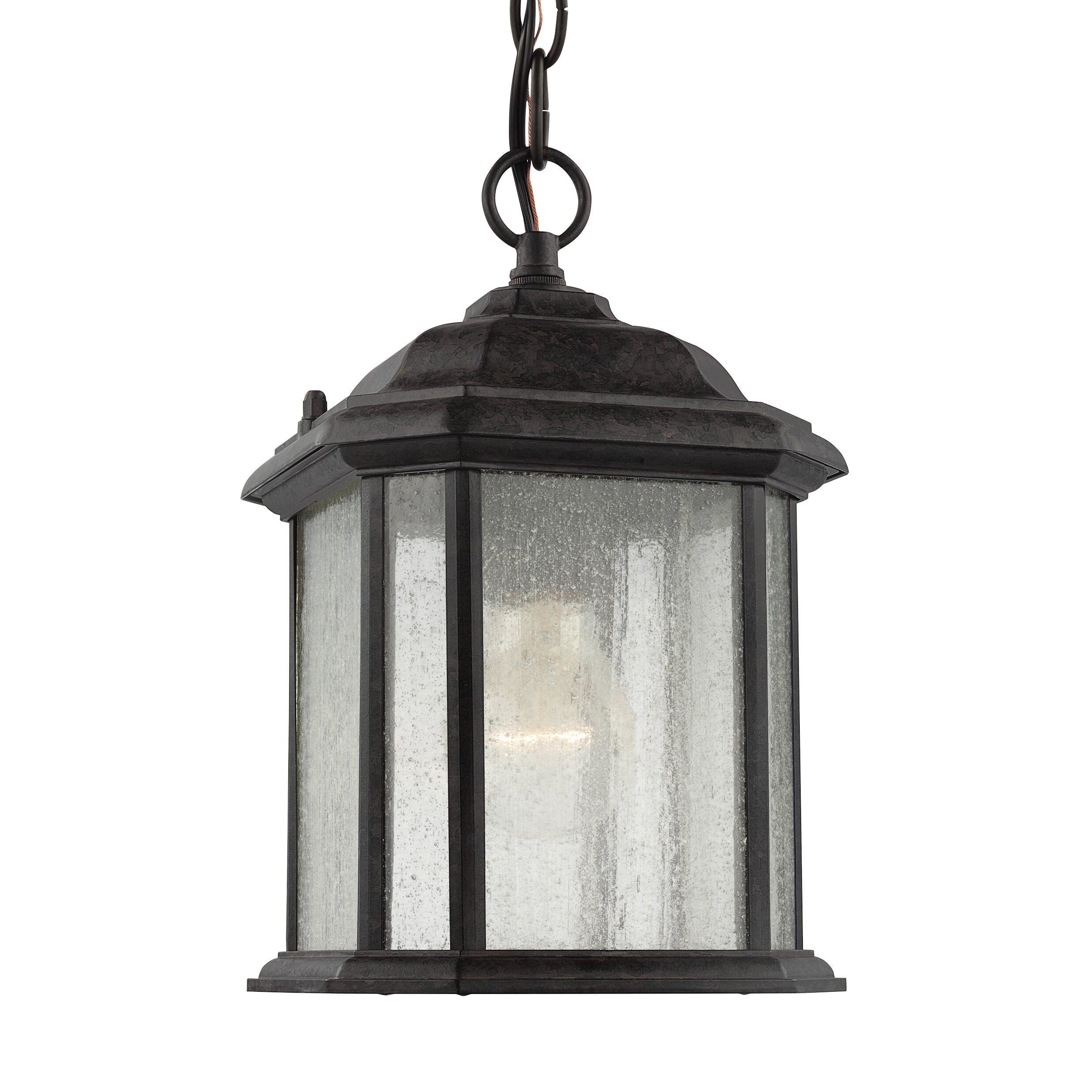 Sea Gull Lighting Kent 1 Light Outdoor Hanging Lantern