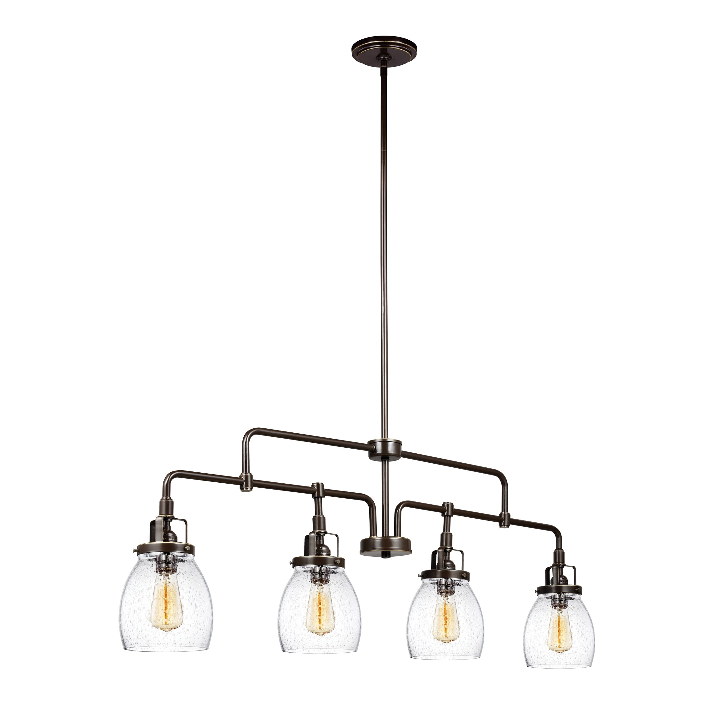 belton 4 light kitchen island pendant by sea gull lighting