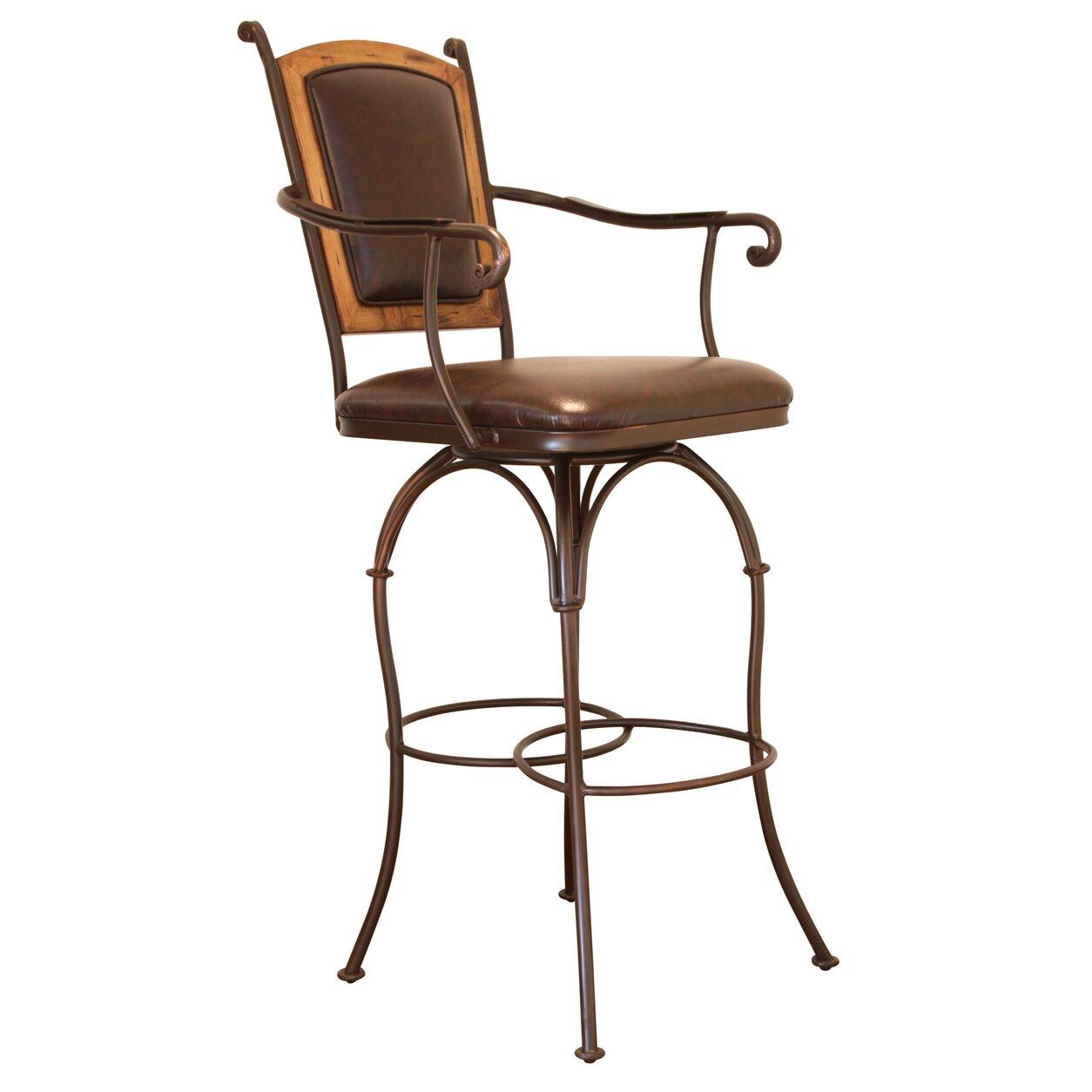 "Artisan Home Furniture 30"" Swivel Bar Stool with Cushion"