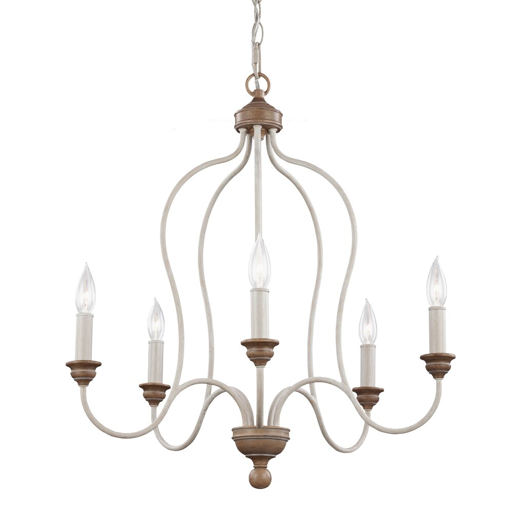 Feiss Hartsville 5 Light Candle Chandelier & Reviews