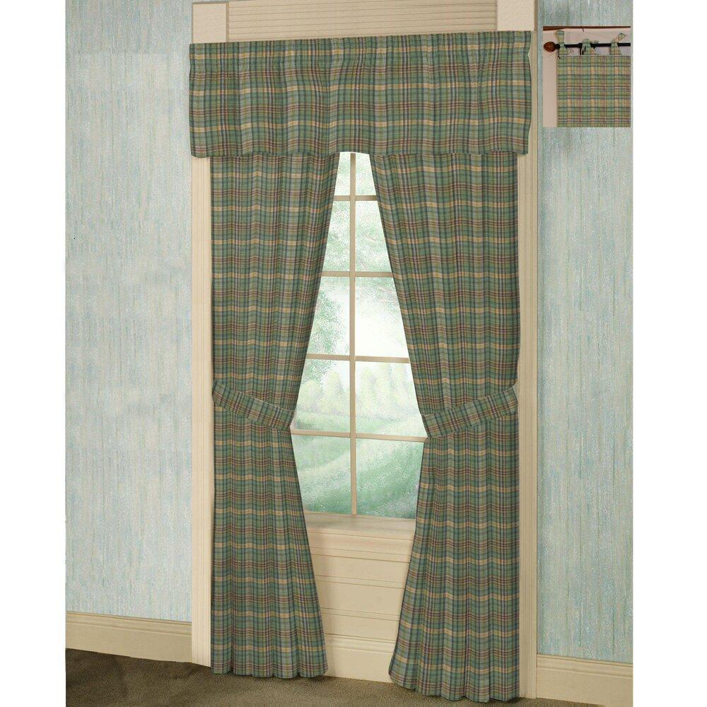 Green Yellow Plaid Cotton Tab Top Bed Curtain Panels Wayfair Supply