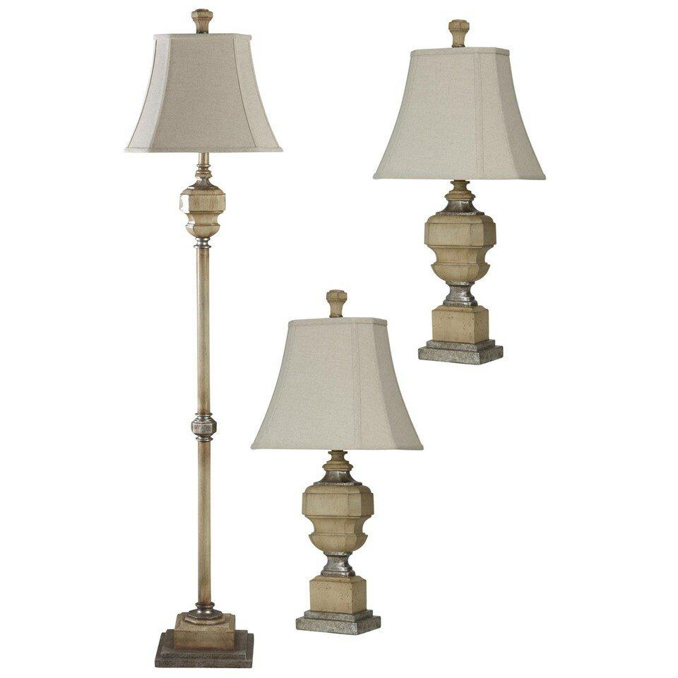 set of 3 antique caramel lamps. Black Bedroom Furniture Sets. Home Design Ideas