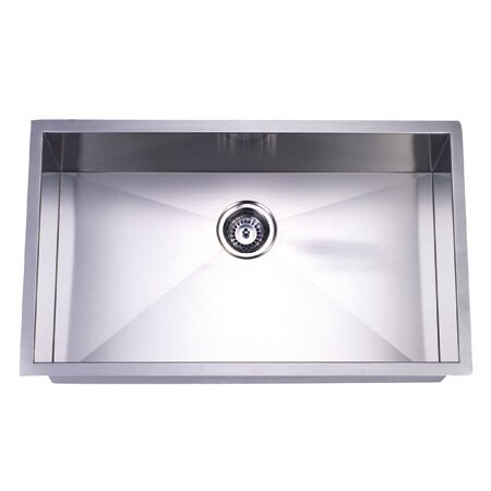 32 X 19 Undermount Offset Single Bowl Kitchen Sink Wayfair