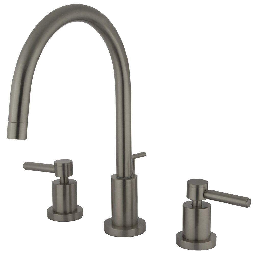 Single Hole Two Handle Bathroom Faucet : ... of Design Concord Double Handle Single Hole Widespread Bathroom Faucet