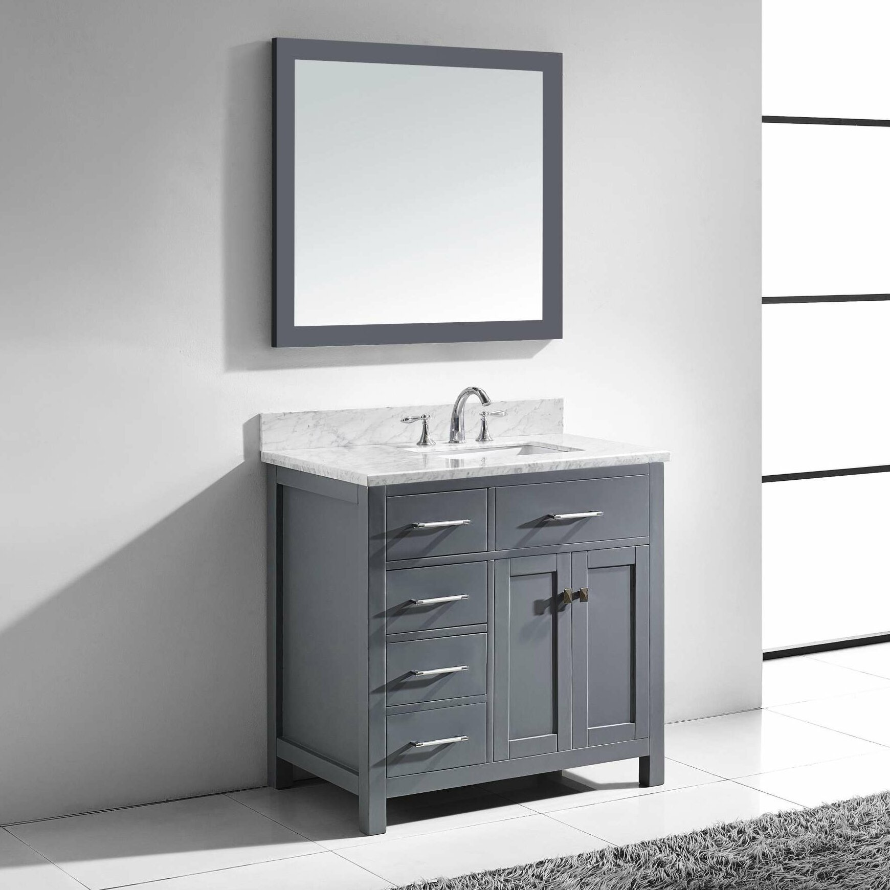 Virtu Caroline Parkway 35 Quot Single Bathroom Vanity Set With