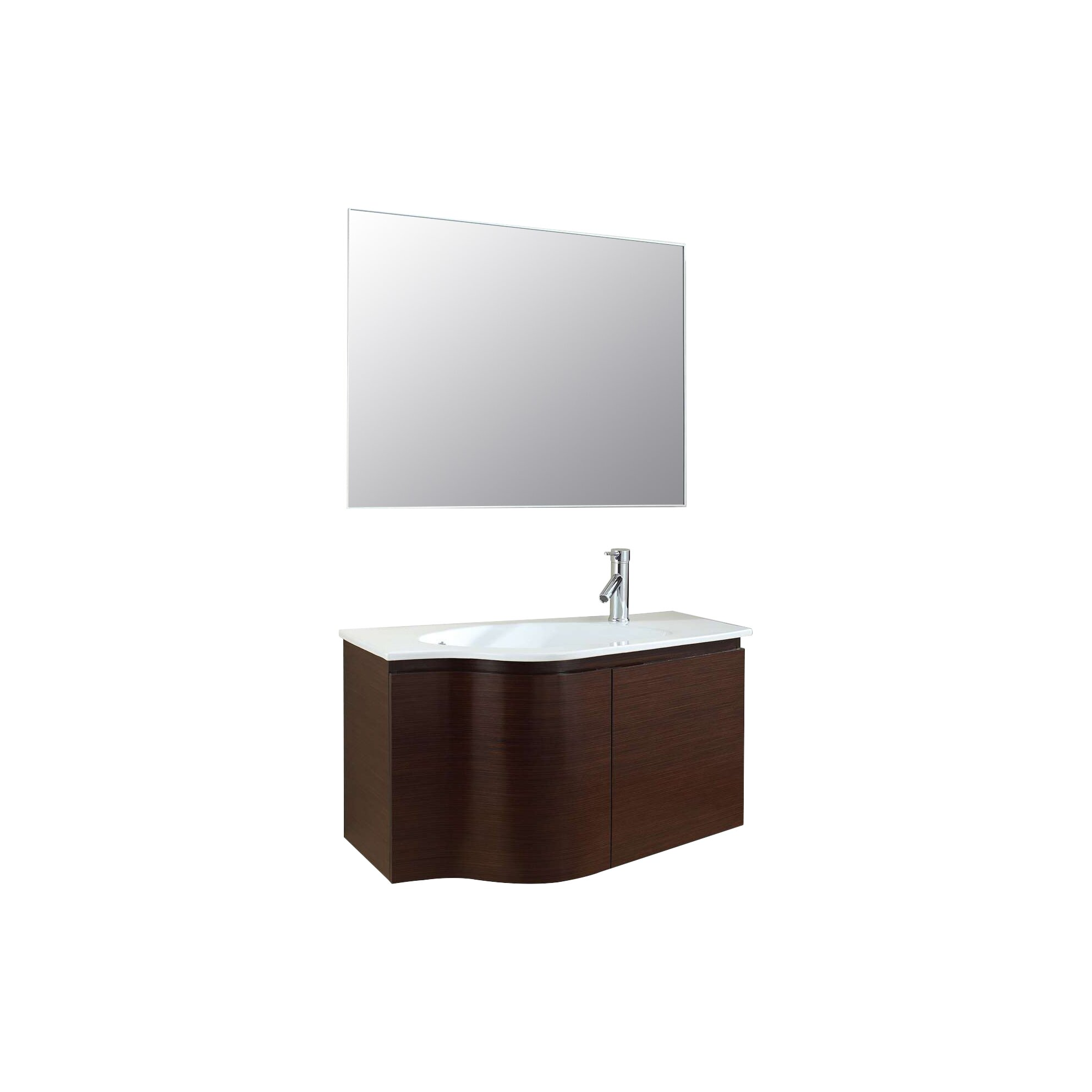quot; Single Floating Bathroom Vanity Set with Mirror amp; Reviews  Wa