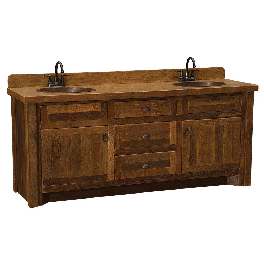 Reclaimed Barnwood 72 Bathroom Vanity Base Wayfair