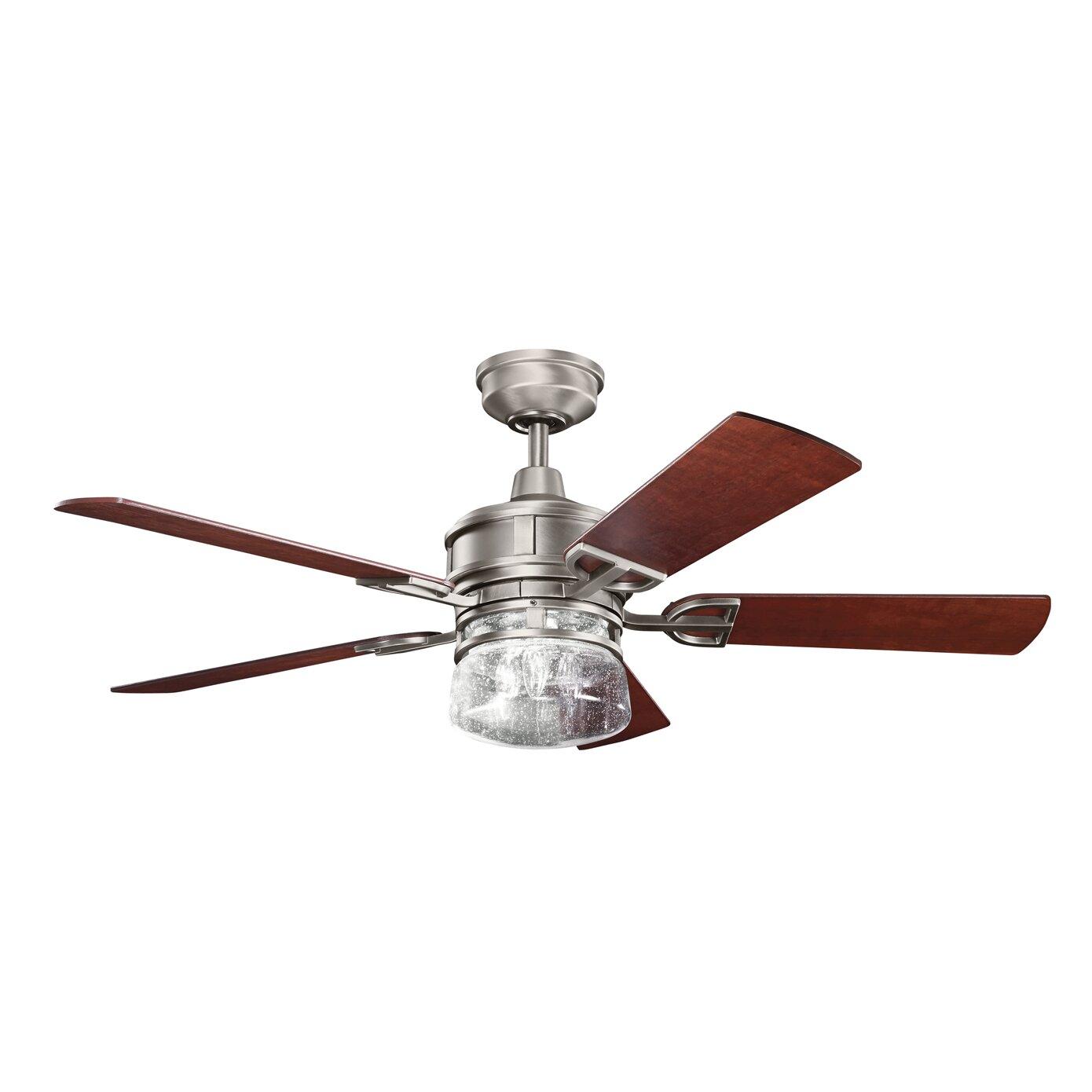 "Kichler 52"" Lyndon 5 Blade Ceiling Fan & Reviews"
