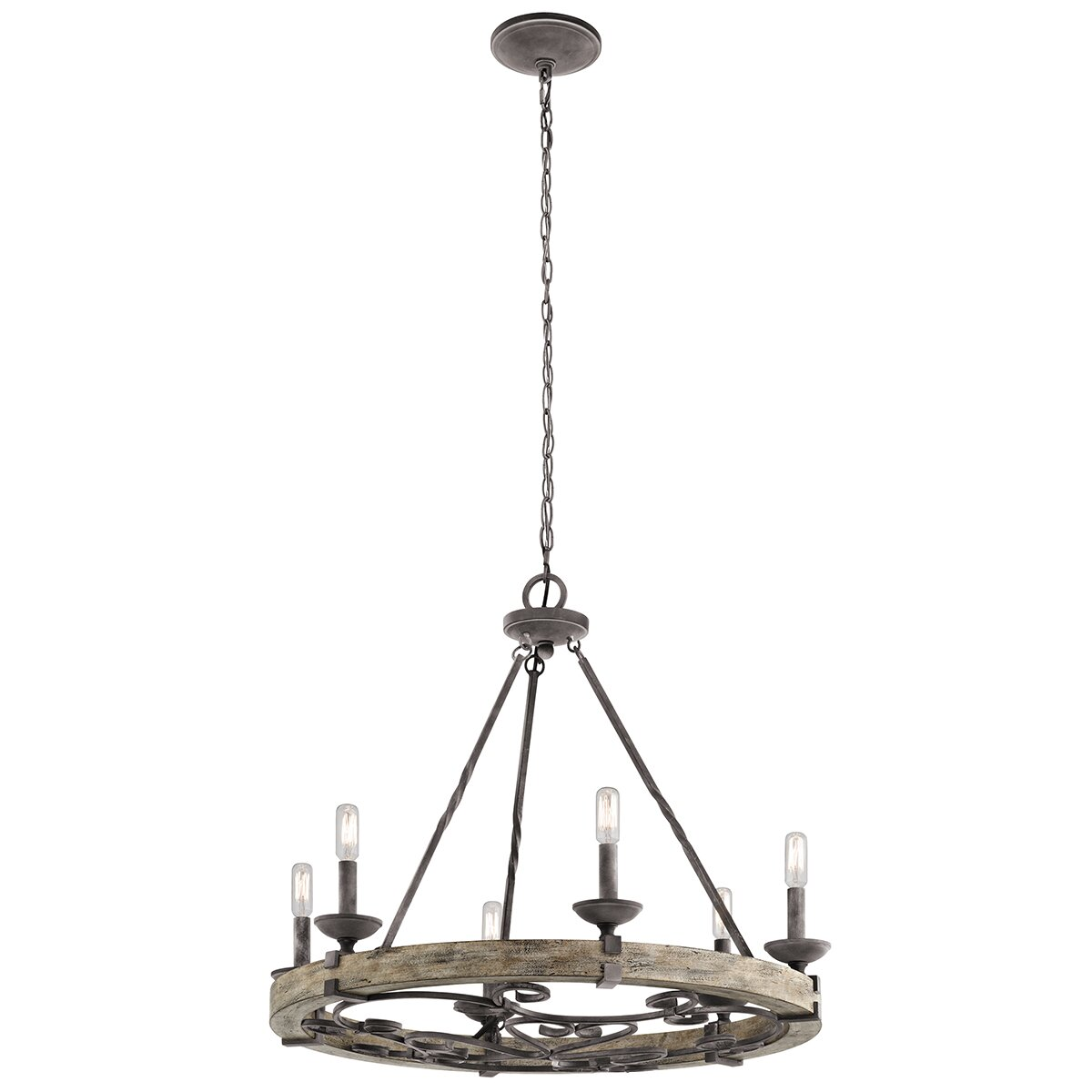 Taulbee 6 Light candle Chandelier