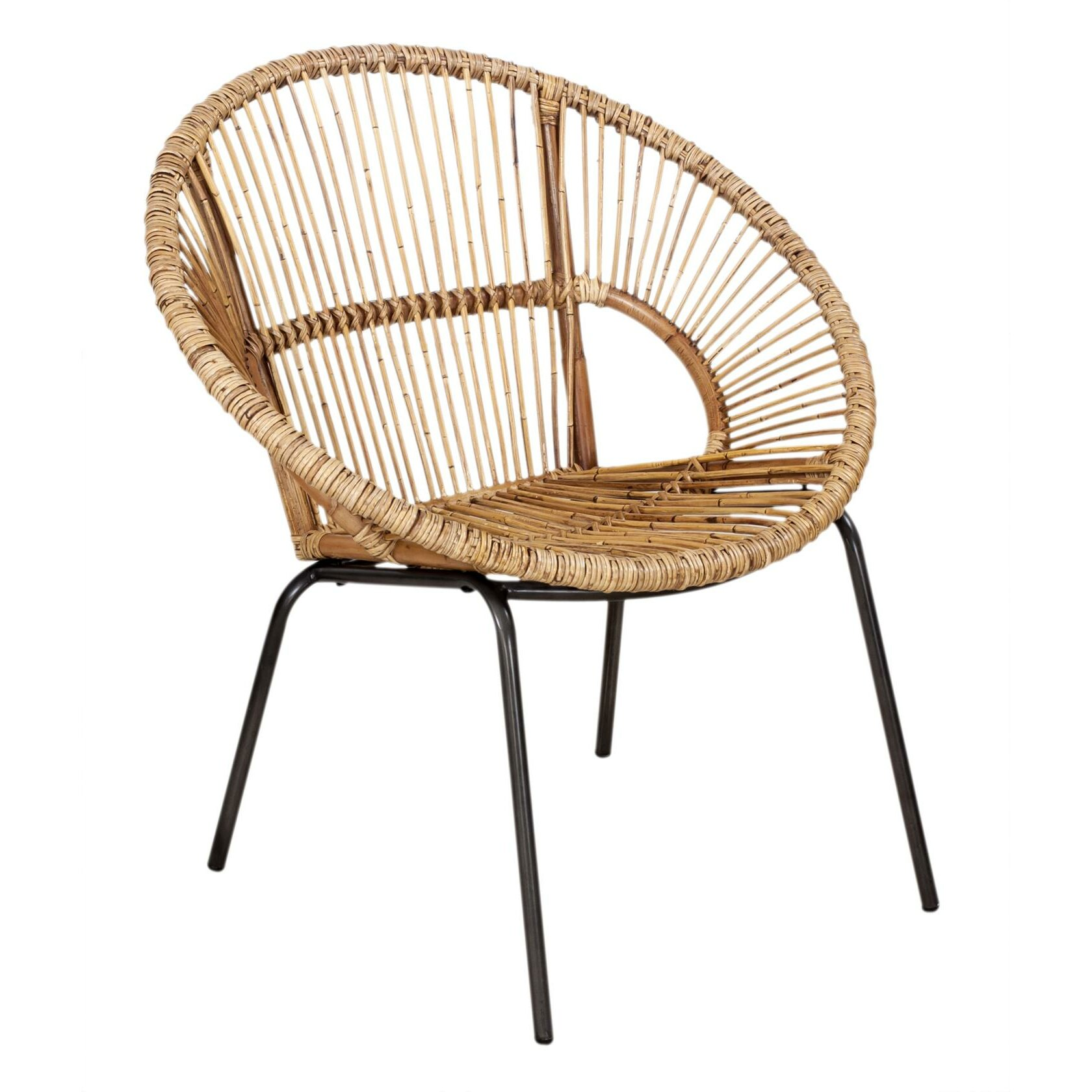 bay isle home coolidge rattan round arm chair reviews wayfair