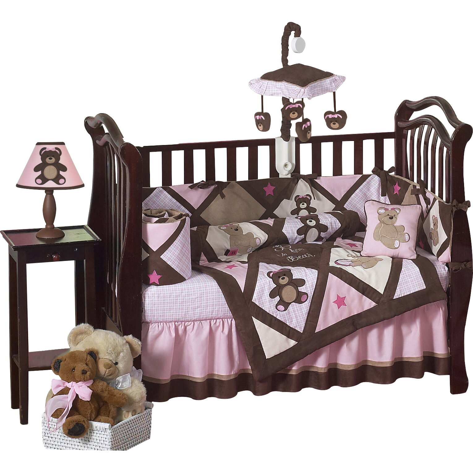 stunning piece sets girls pink baby and crib cribs white beautiful damask butterfly designs gray shabby set sweet bedding alexa with chic jojo bumper