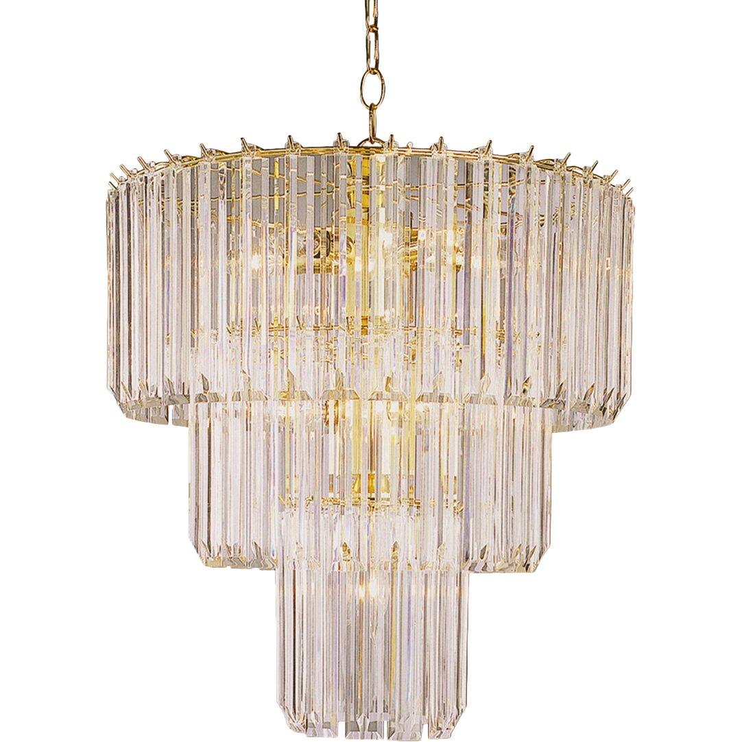 Transglobe Lighting Back To Basics 9 Light Acrylic Chandelier Amp Reviews Wayfair