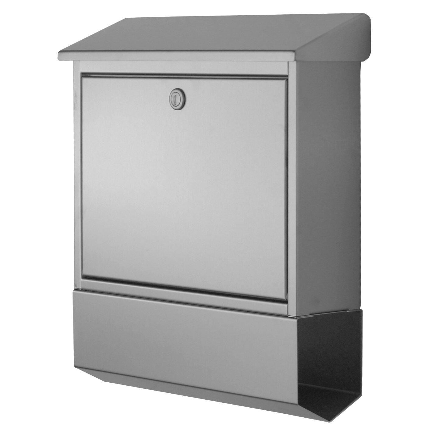 briefkasten holz mit zeitungsfach. Black Bedroom Furniture Sets. Home Design Ideas