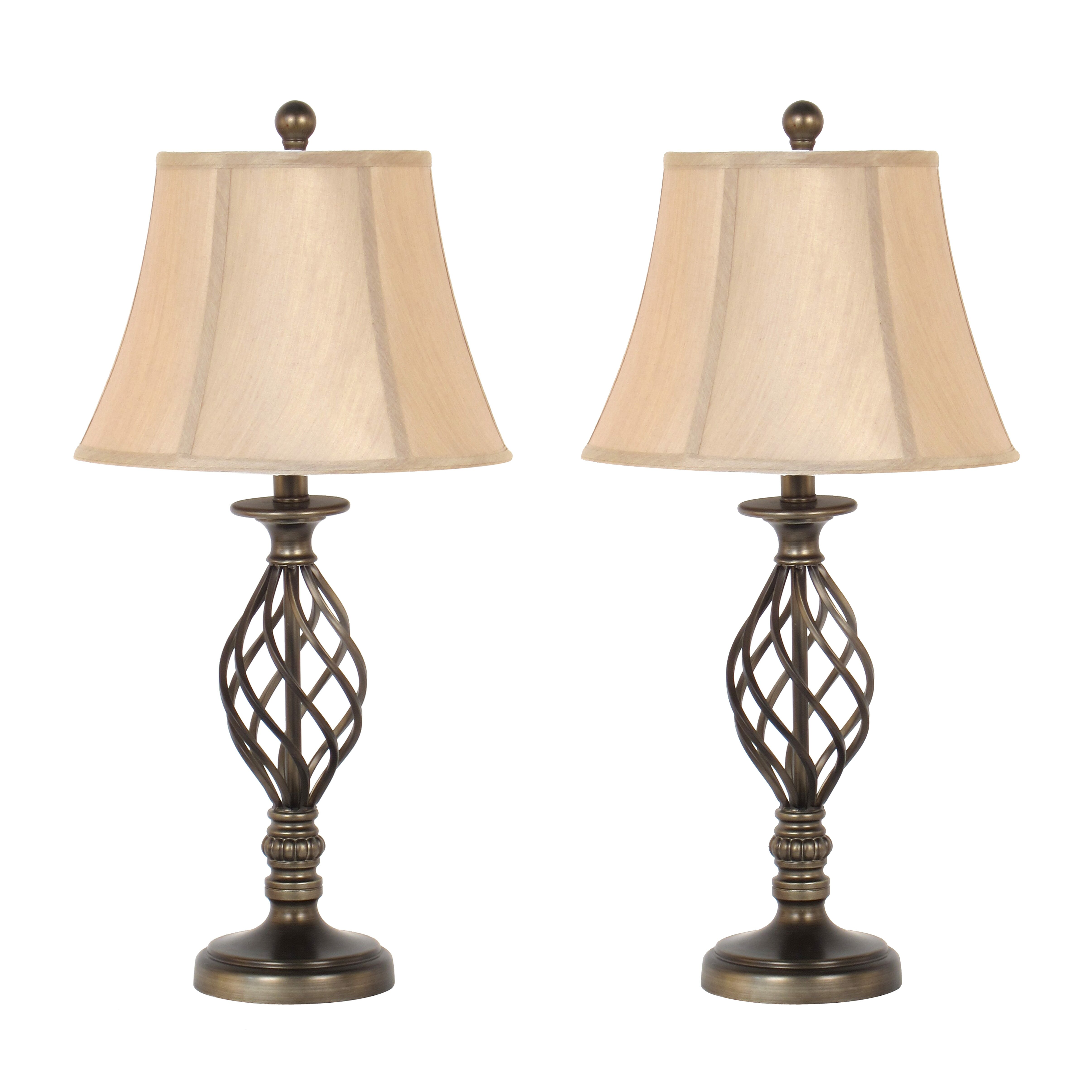 """Metal Bell Lamp Shade: Legacy Home 27"""" H Table Lamp With Bell Shade & Reviews"""