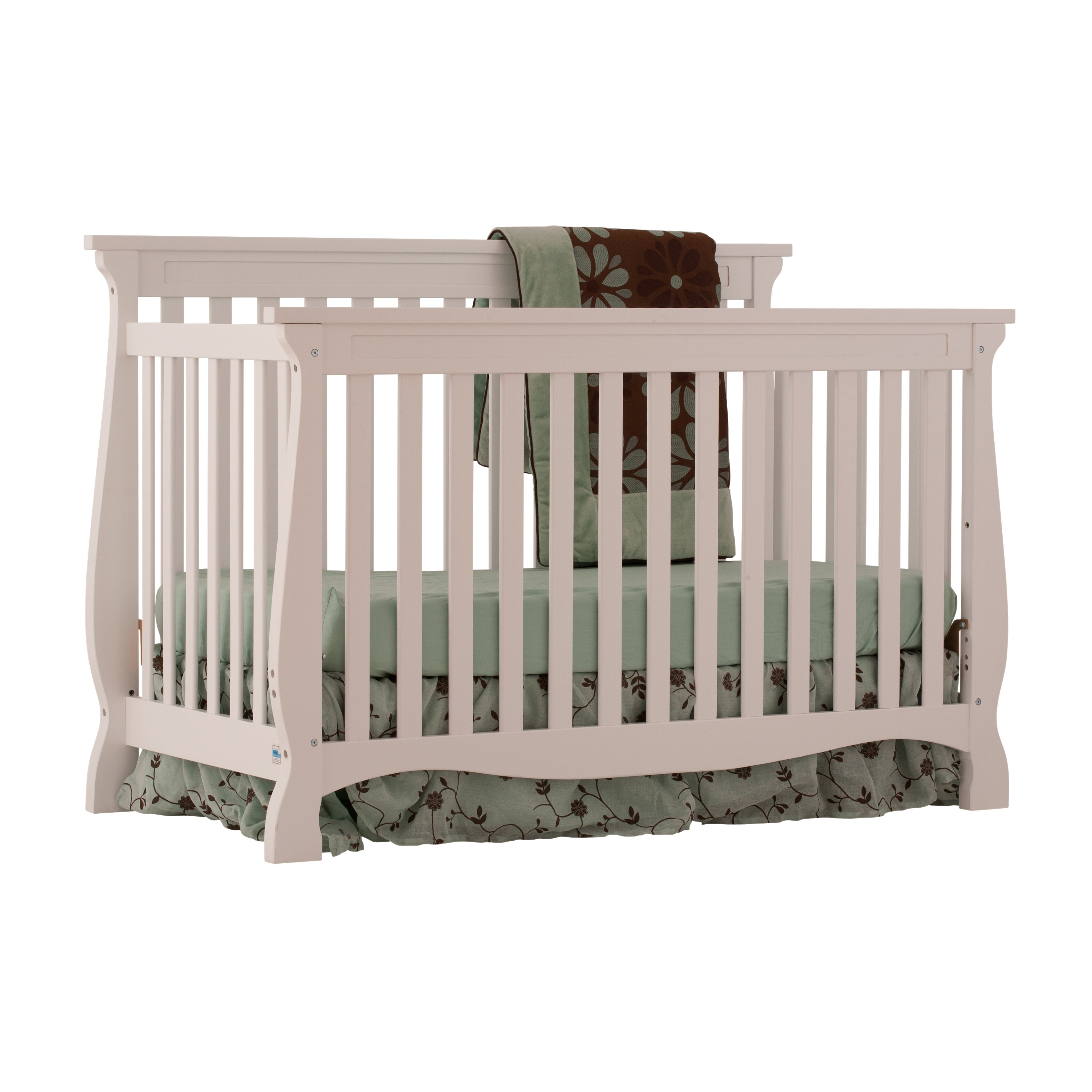 Storkcraft Carrara Fixed Side Convertible Crib 04587 101 KD1682 on kd kitchens and bath