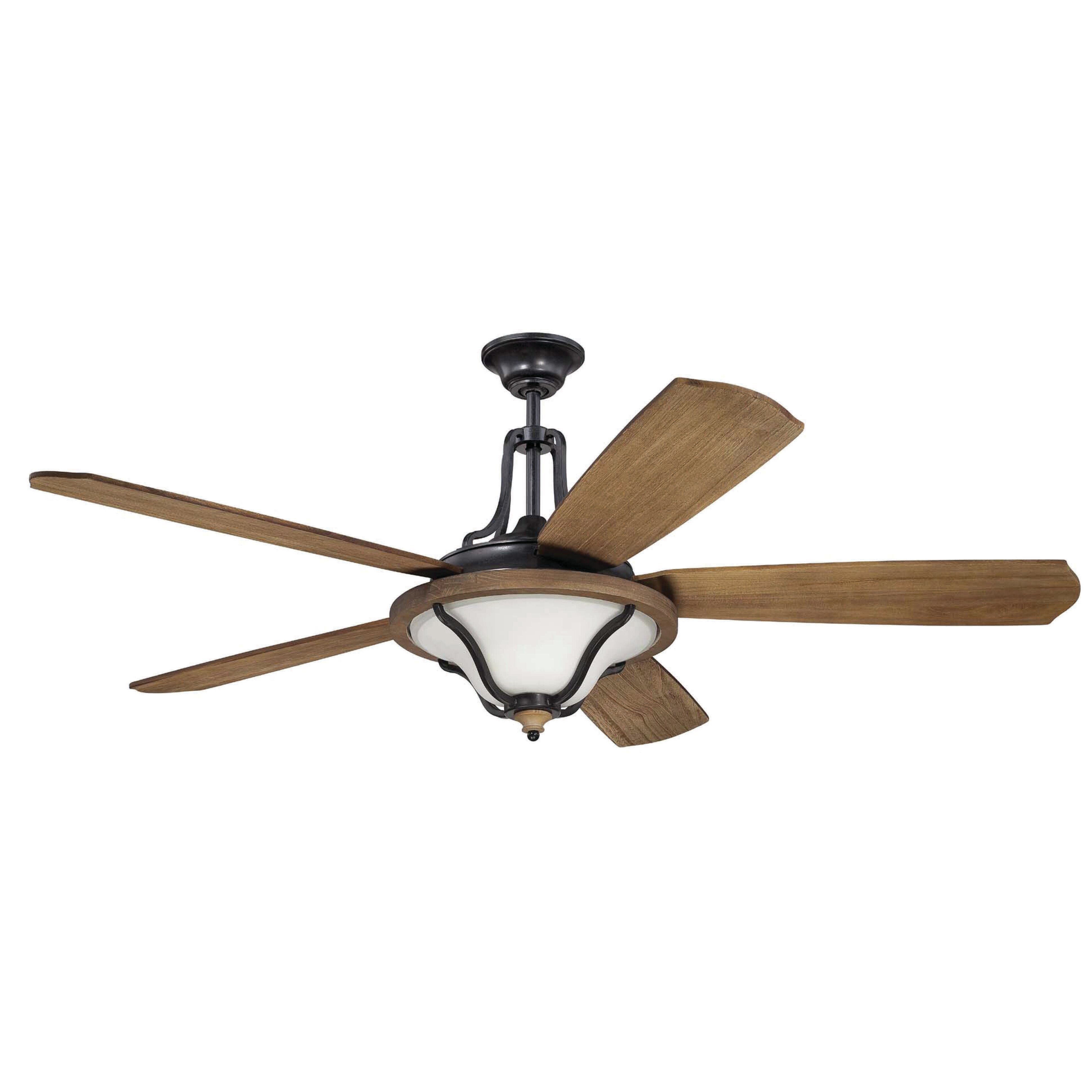 """60"""" Ashwood 5 Blade Ceiling Fan with Wall Remote"""