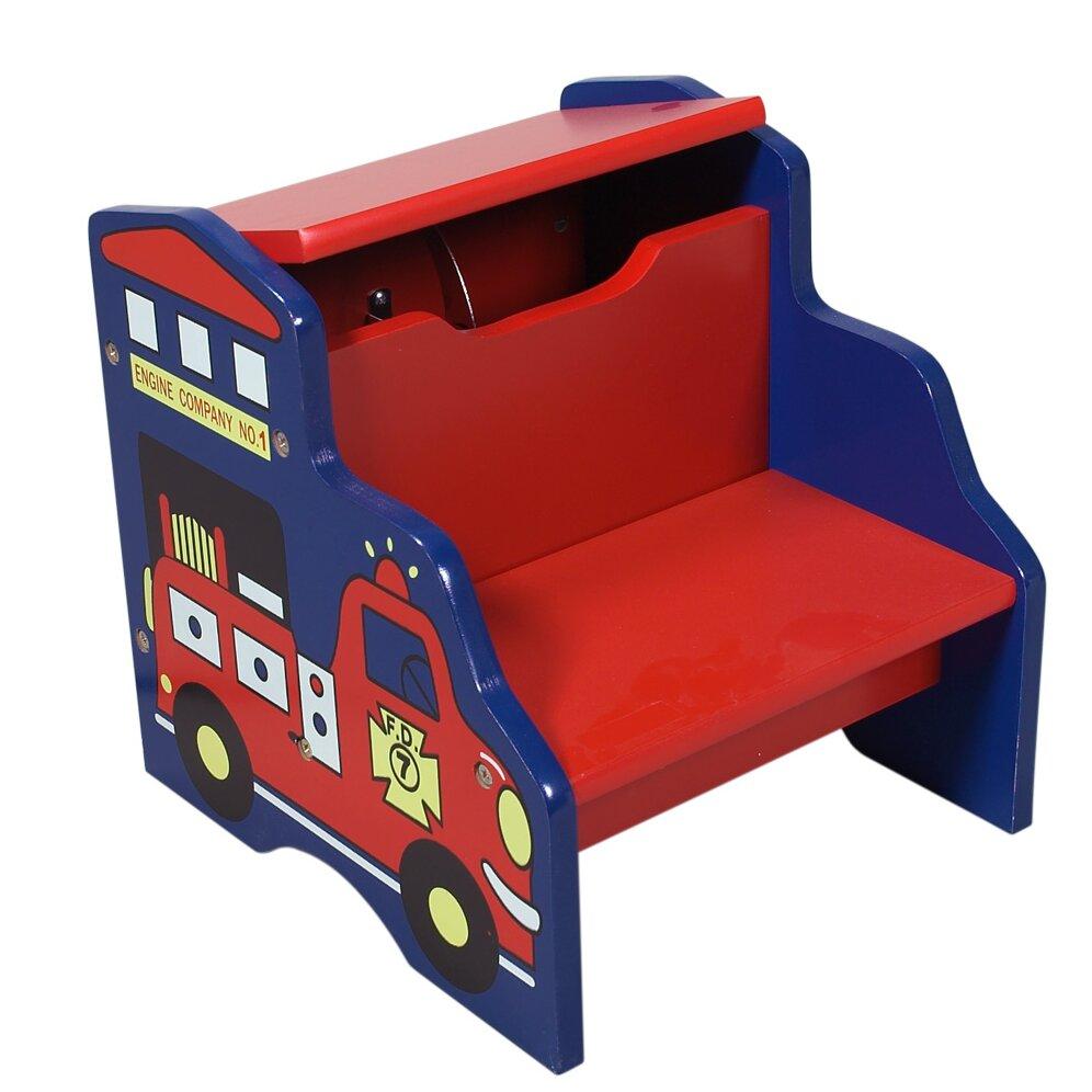 gift mark 2 step storage step stool reviews wayfair. Black Bedroom Furniture Sets. Home Design Ideas