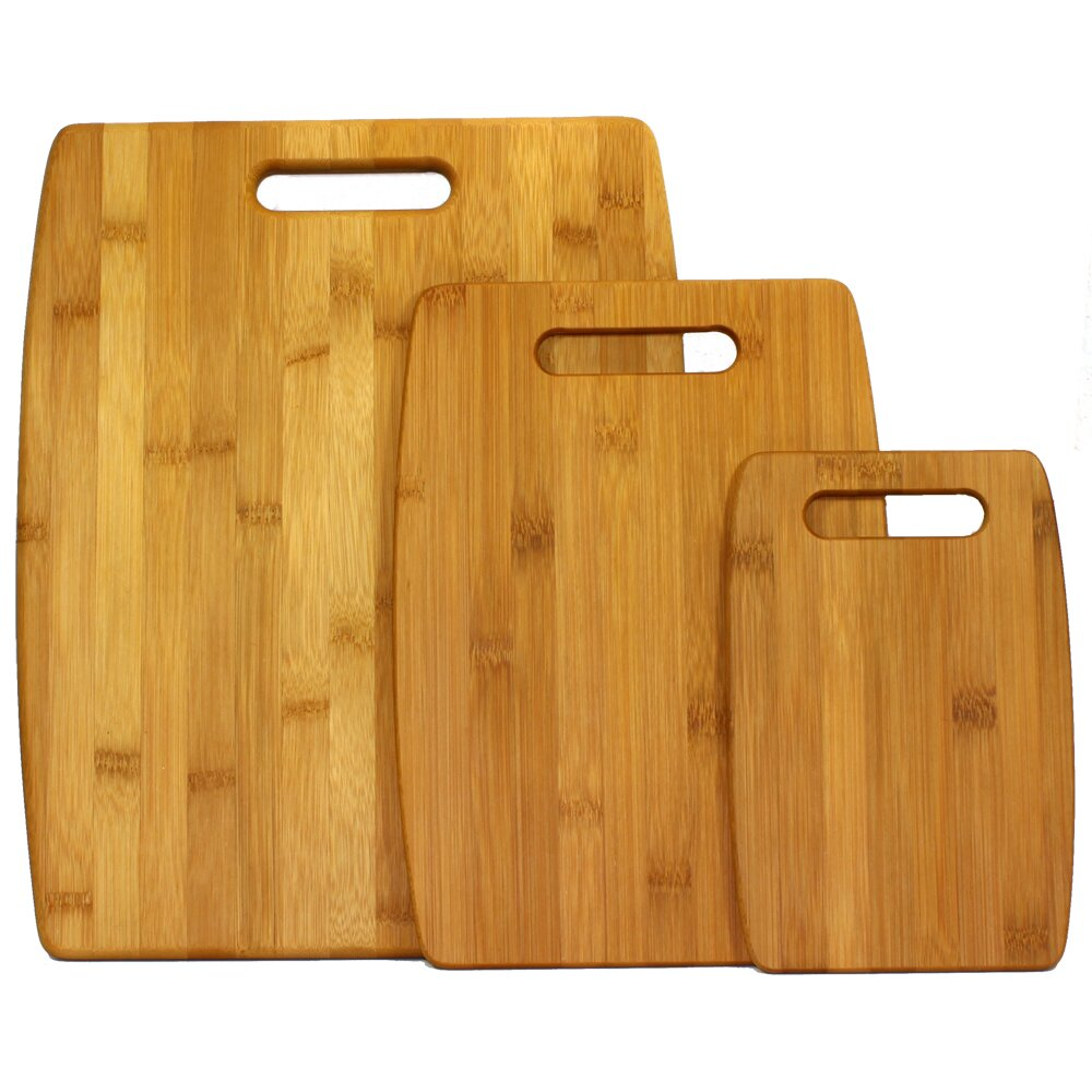 Oceanstar Design 3 Piece Bamboo Cutting Board Set amp Reviews Wayfair