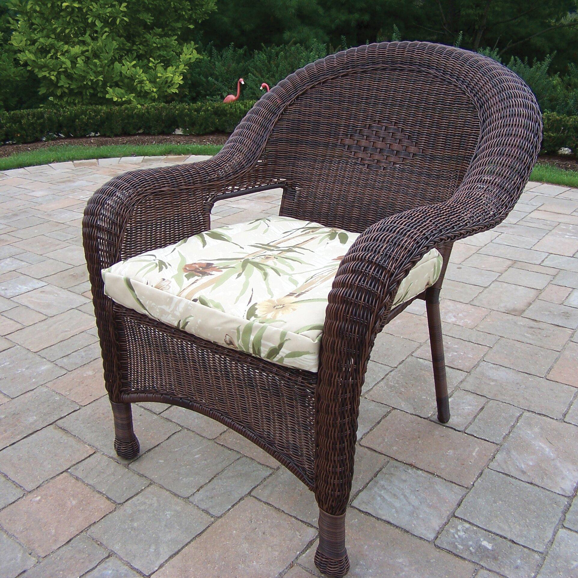 Oakland Living Resin Wicker Chair Amp Reviews Wayfair