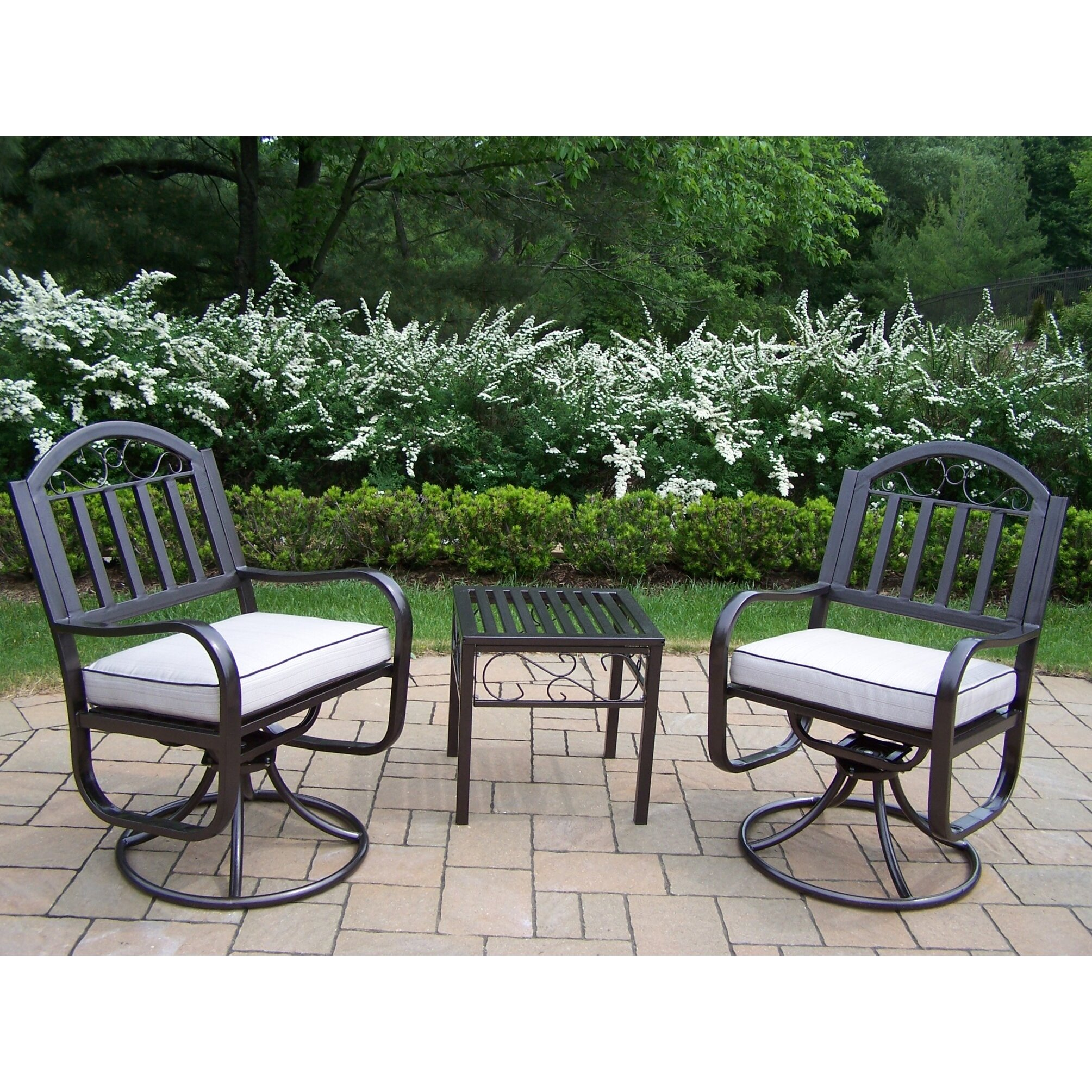 Outdoor Patio Furniture Rochester Ny: Rochester 3-Piece Swivel Chair Set