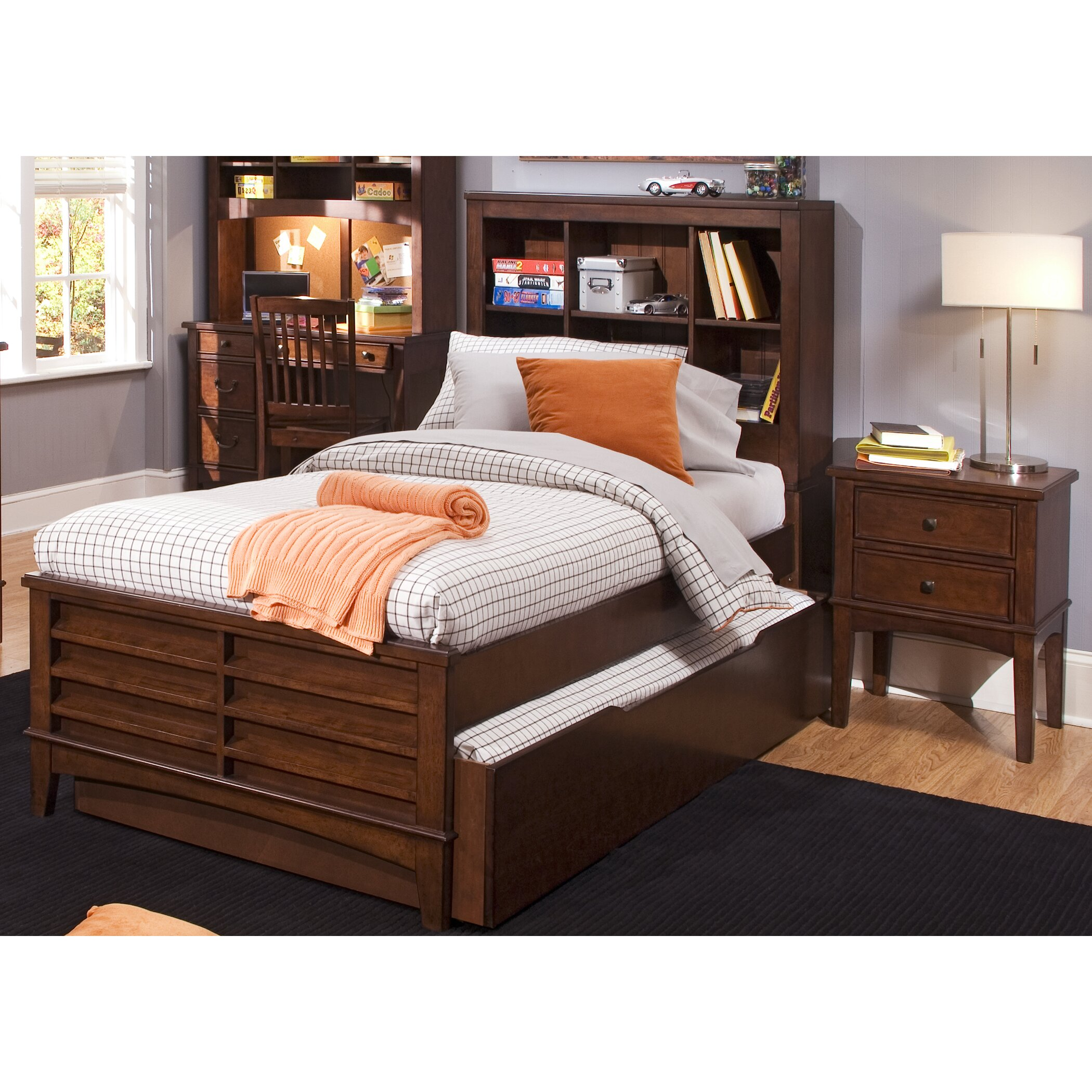 Liberty furniture chelsea square youth bedroom bookcase - Bedroom furniture bookcase headboard ...
