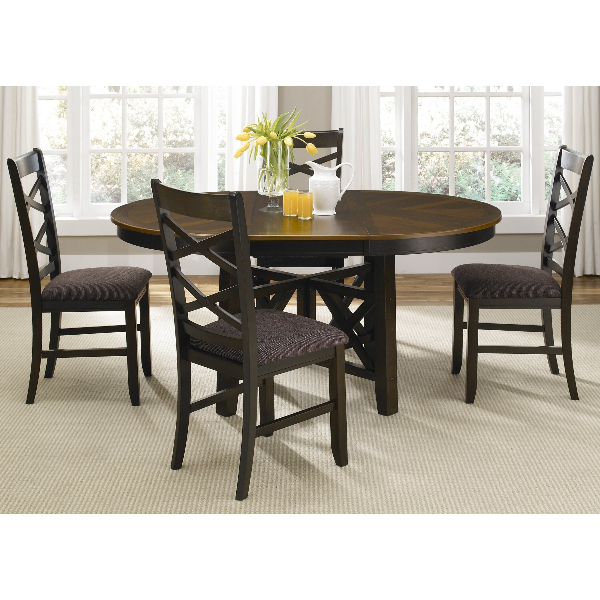 Contemporary Round Dining Table For 6 Oval Kitchen Dining Tables Wayfair