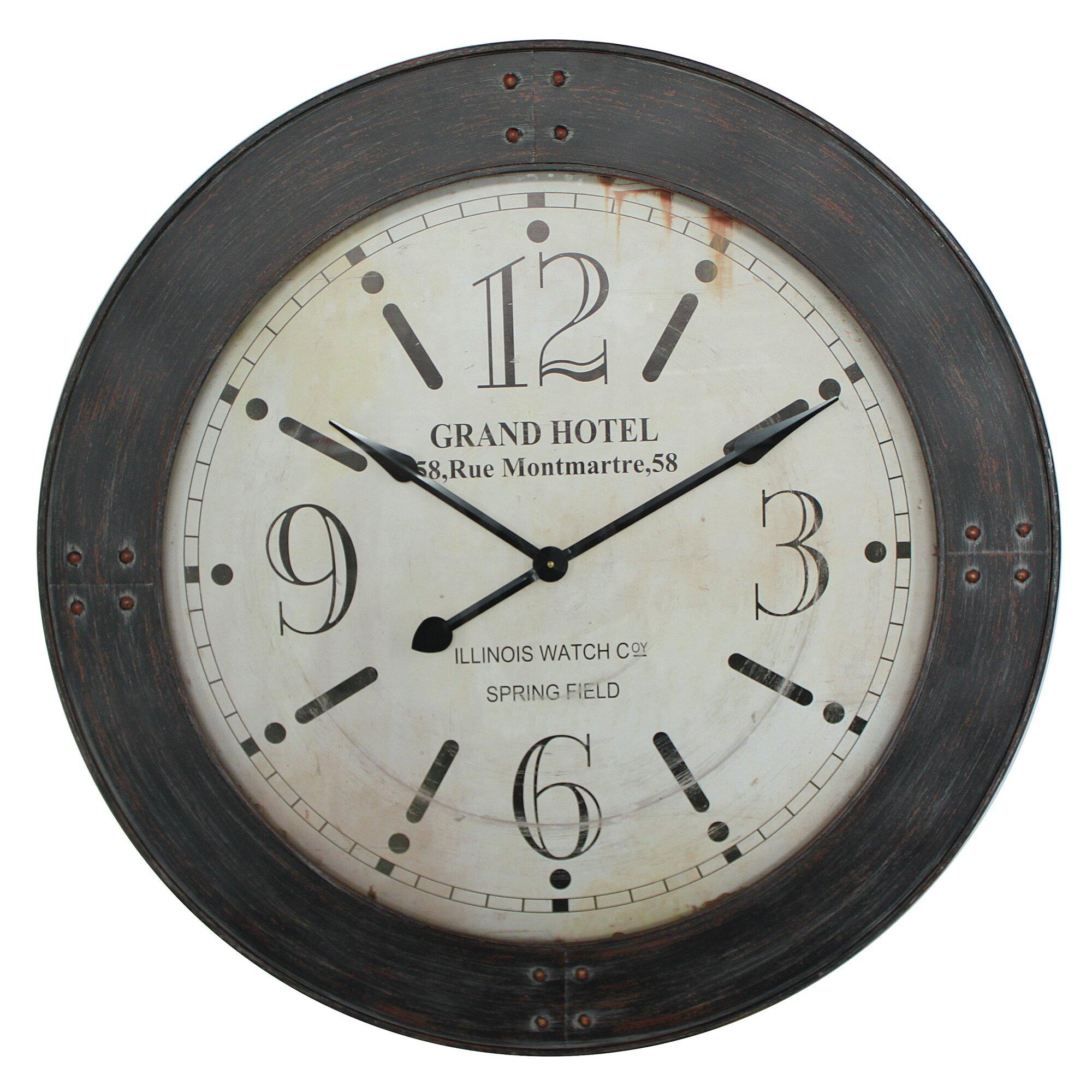 "Yosemite Home Decor 39"" Oversized Wall Clock & Reviews"