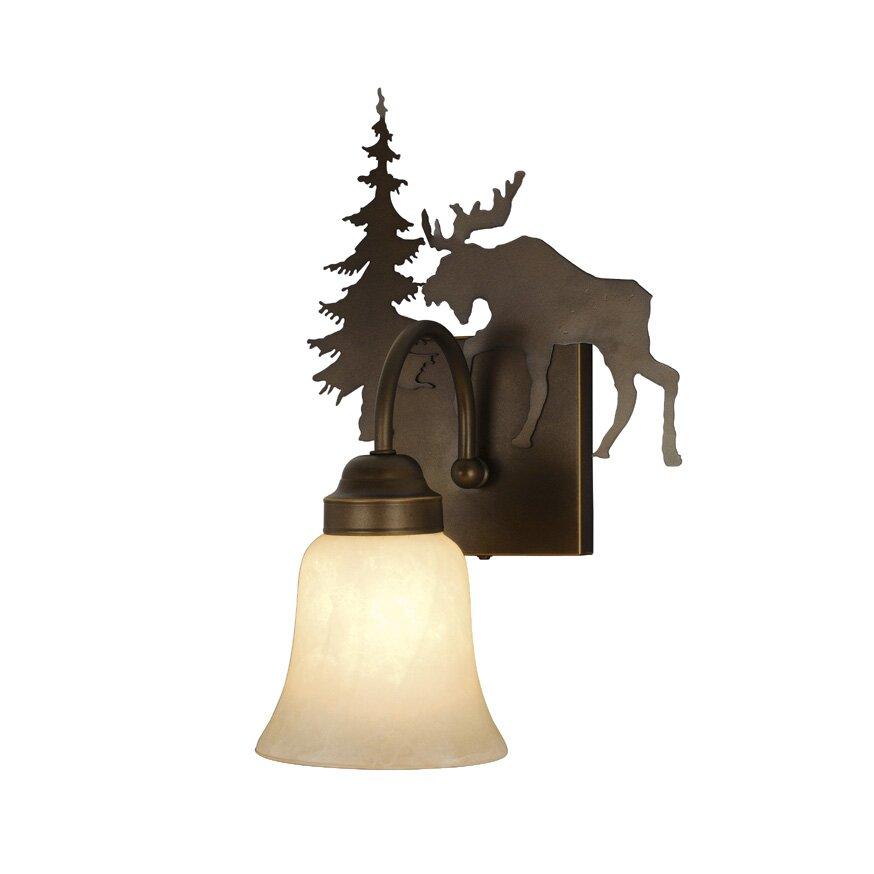 Wayfair Indoor Wall Sconces : Yellowstone Indoor 1 Light Wall Sconce with Glass Shade Wayfair