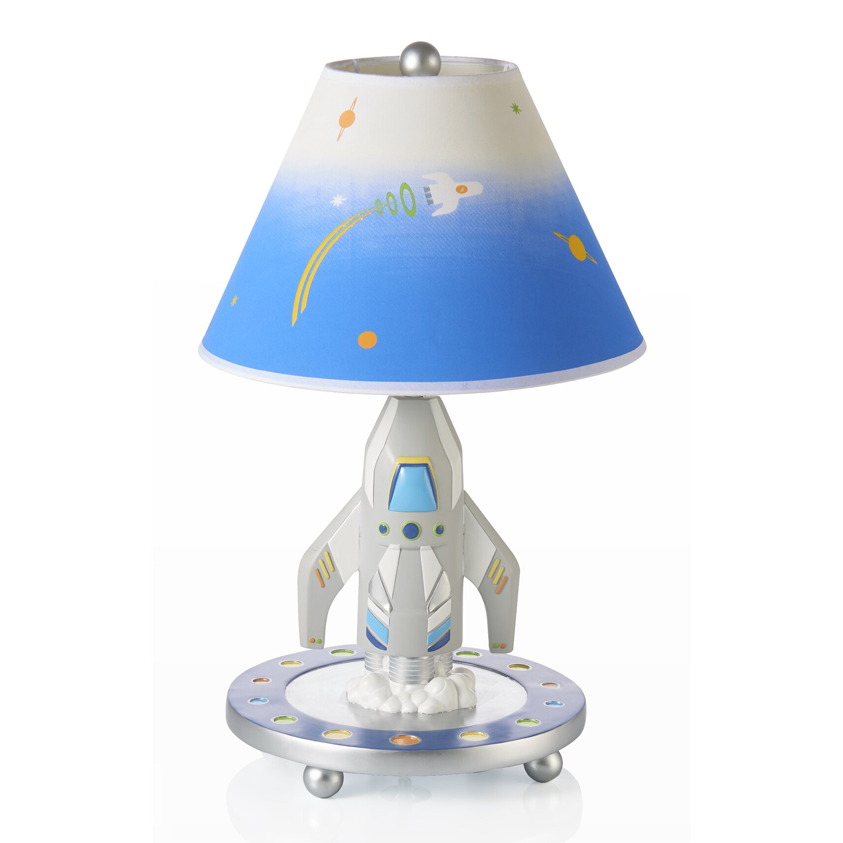 Guidecraft 19 Quot H Rocket Lamp With Empire Shade Amp Reviews