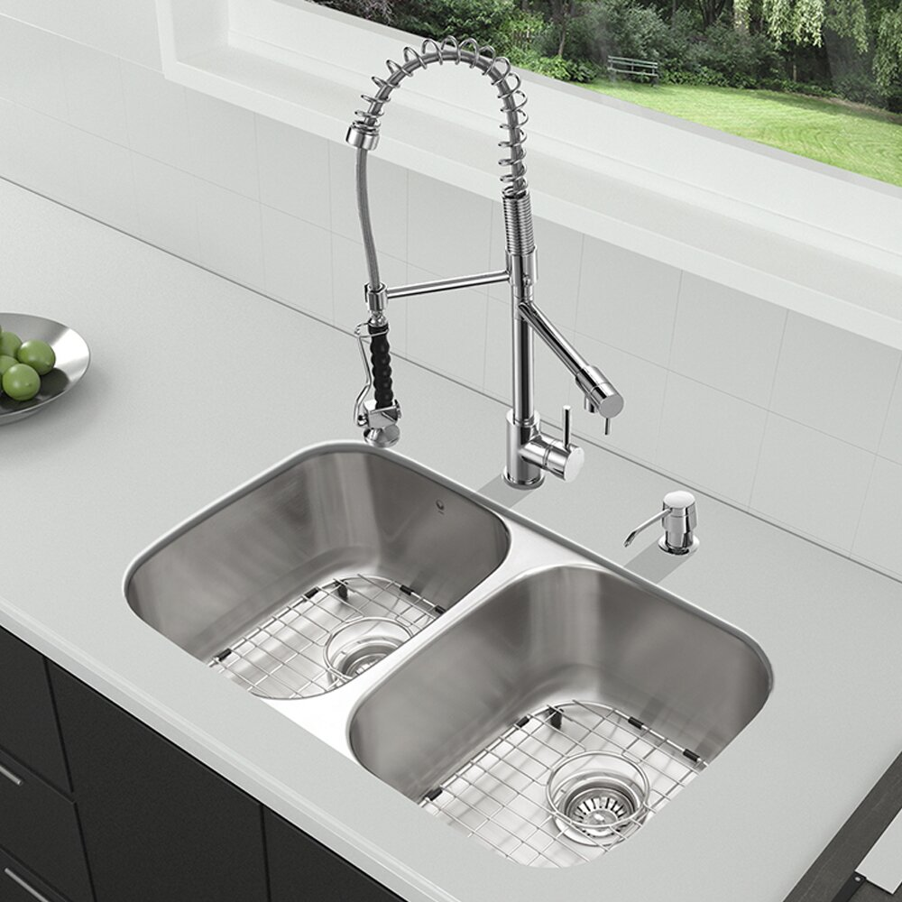 32 Inch Undermount Kitchen Sink : Kitchen Sinks Vigo Part #: VG15336 SKU: VGU2492