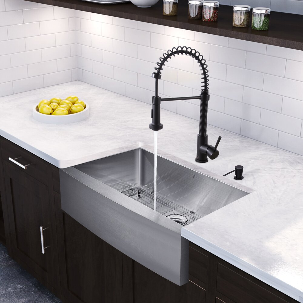 36 Inch Kitchen Sink : Kitchen Sinks Vigo Part #: VG15387 SKU: VGU3192