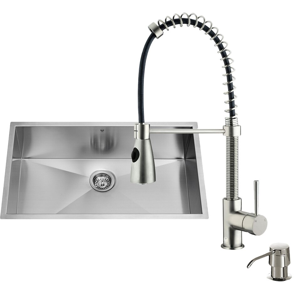 32 Inch Undermount Kitchen Sink : 32 inch Undermount Single Bowl 16 Gauge Stainless Steel Kitchen Sink ...