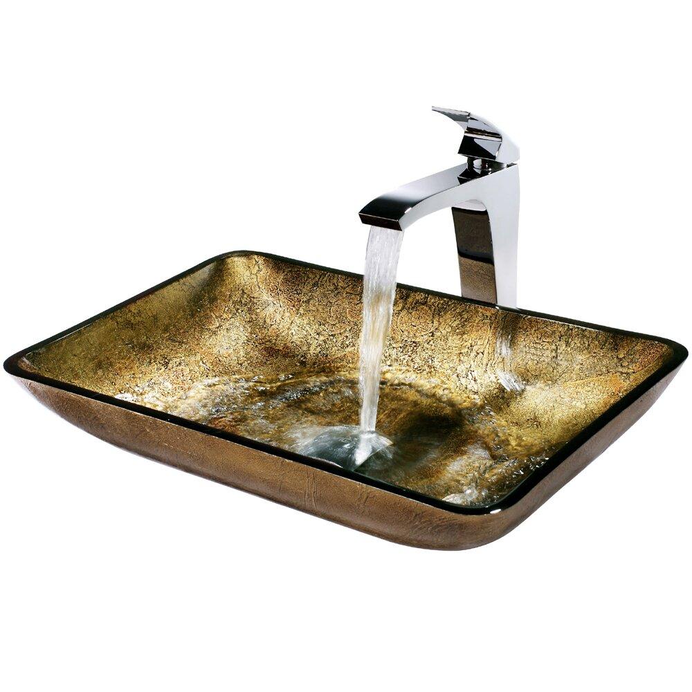 Rectangular Glass Vessel Sink : Rectangular Copper Glass Vessel Bathroom Sink and Blackstonian Vessel ...