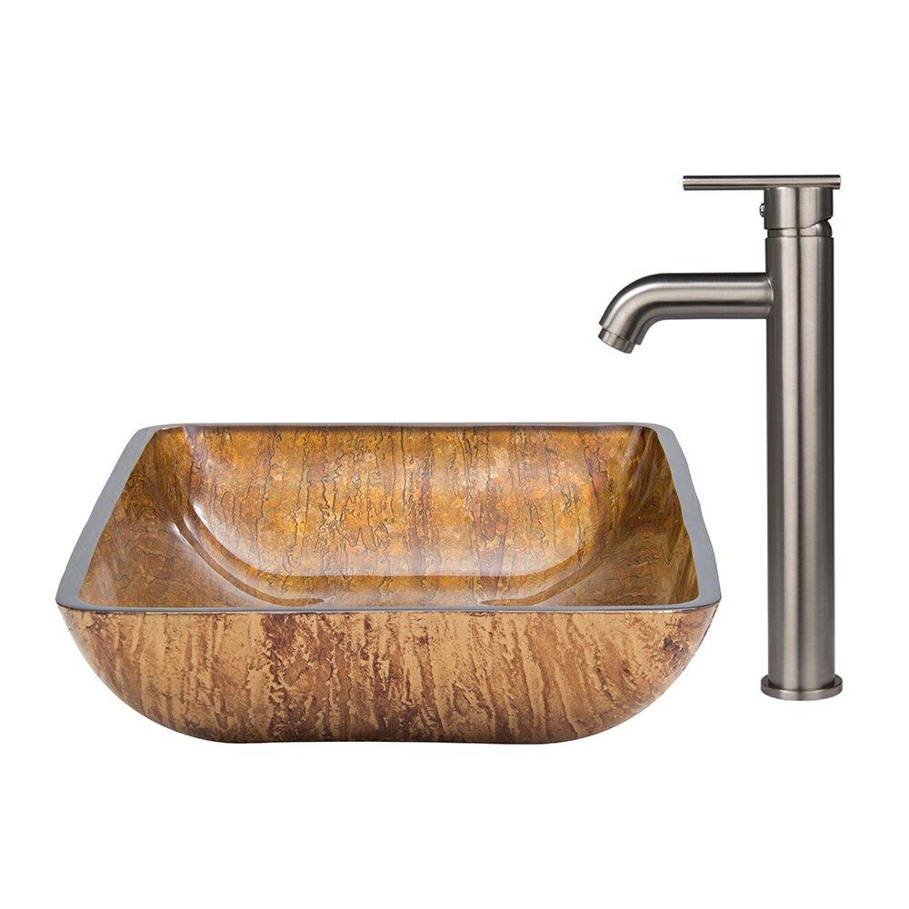 ... Vessel Bathroom Sink and Seville Vessel Faucet with Pop Up Wayfair