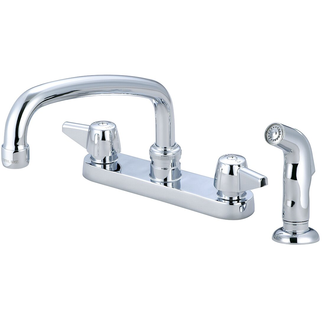 Central Brass Double Handle Centerset Kitchen Faucet with