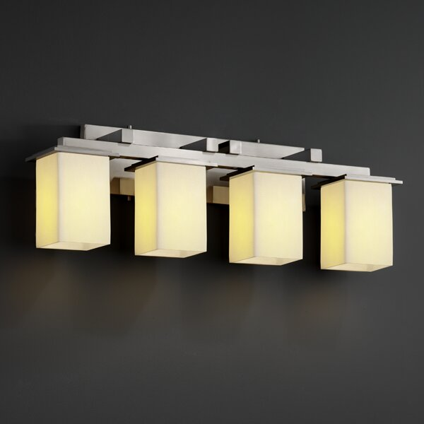Justice design group candlearia montana 4 light bath vanity light reviews wayfair - Justice design group bathroom lighting ...