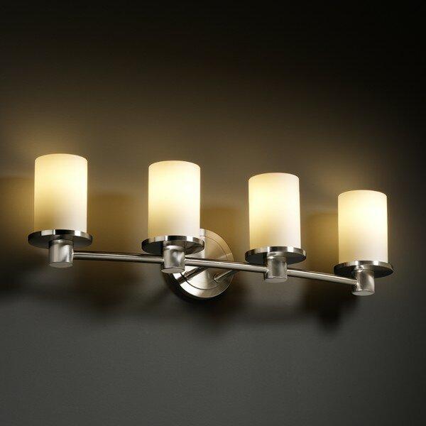 Justice Bathroom Lighting: Justice Design Group Fusion Rondo 4 Light Bath Vanity