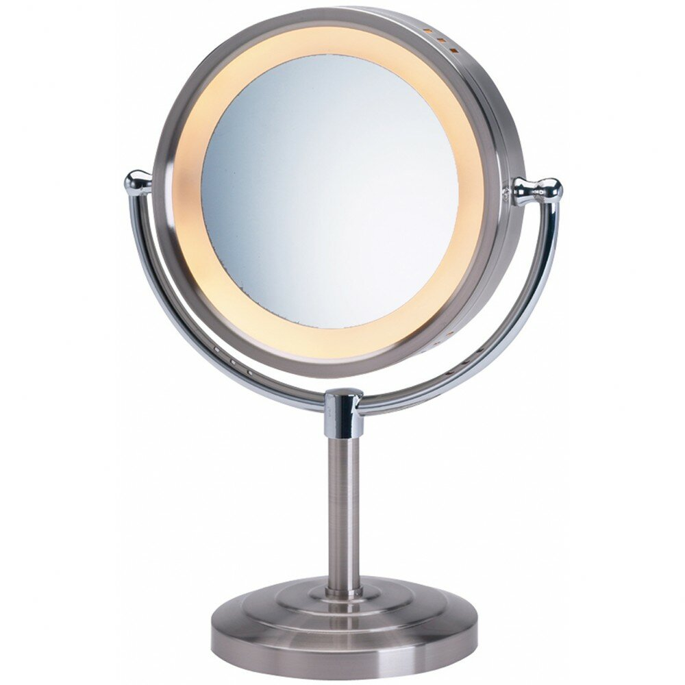 Jerdon Halo Lighted Tabletop Vanity Mirror Amp Reviews Wayfair