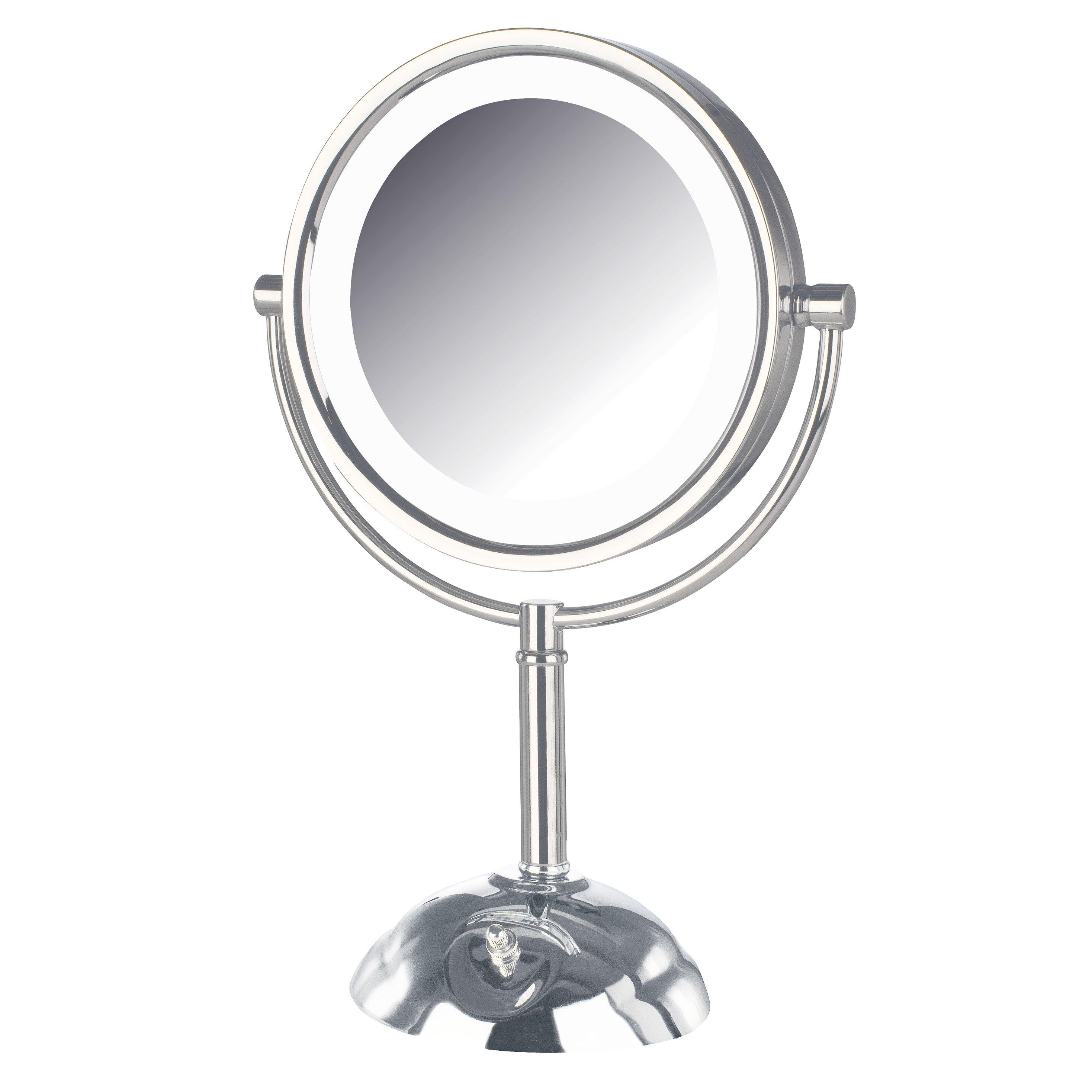jerdon dual sided lighted led vanity mirror reviews wayfair. Black Bedroom Furniture Sets. Home Design Ideas