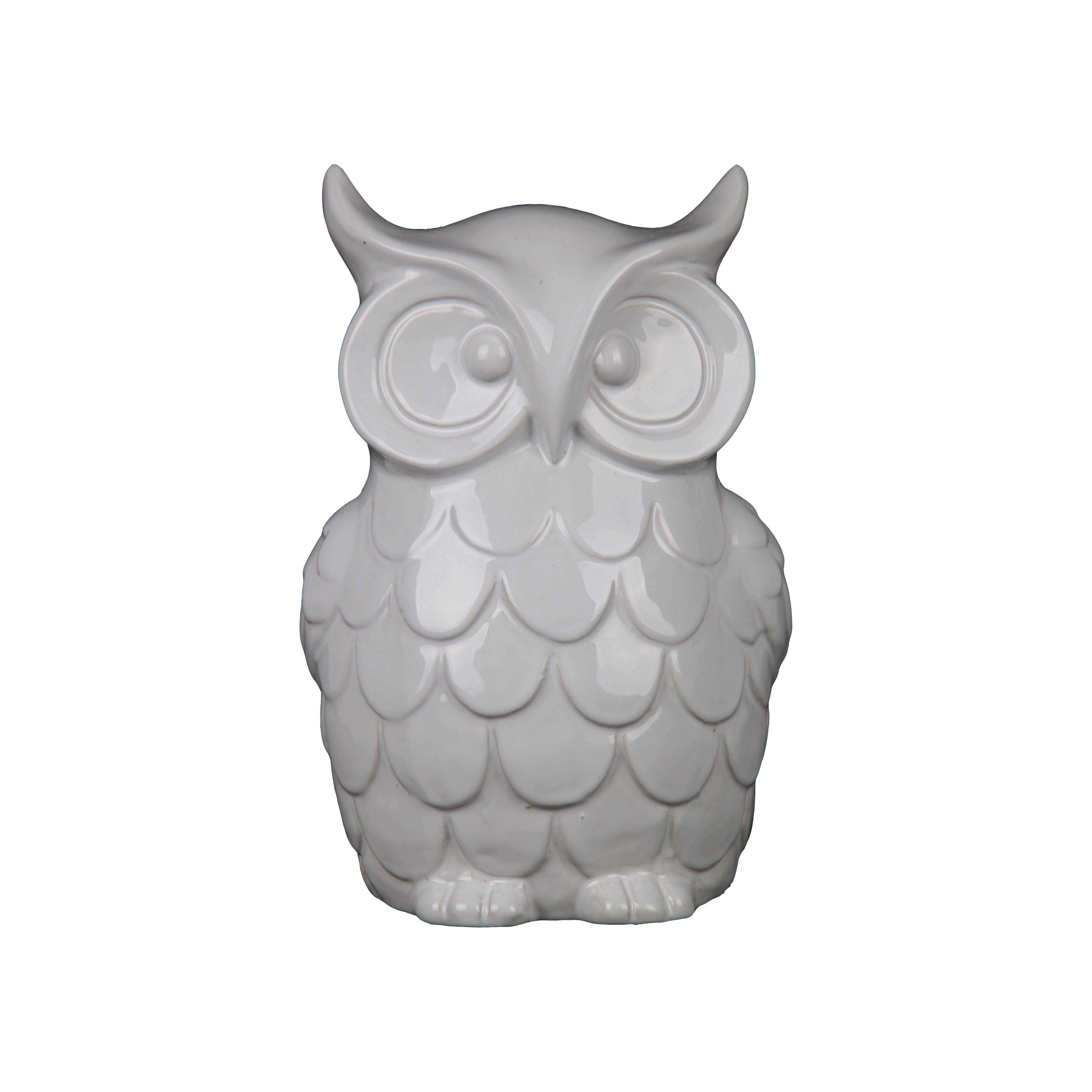 Privilege Ceramic White Owl Figurine Reviews Wayfair