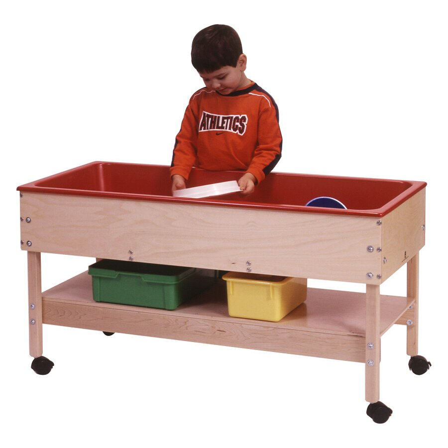 Steffy Sand And Water Table With Shelf Amp Reviews Wayfair