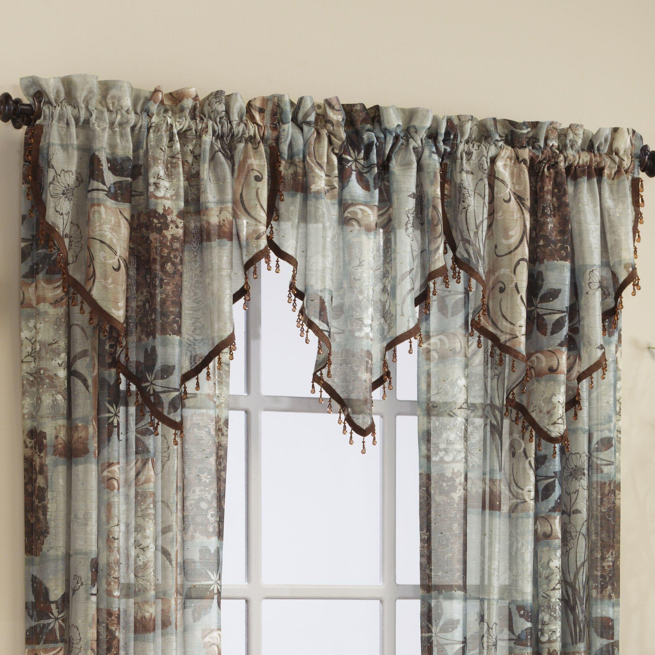 Croscill Jessica Sheer 40 Curtain Valance Reviews Wayfair