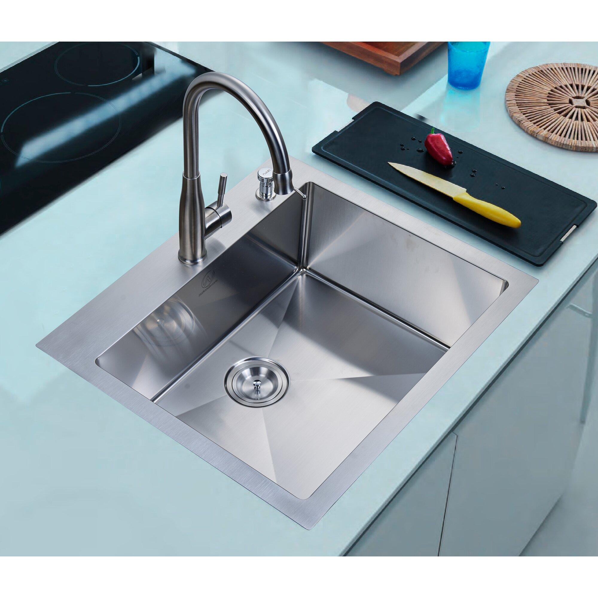 Overmount Single Basin Kitchen Sink
