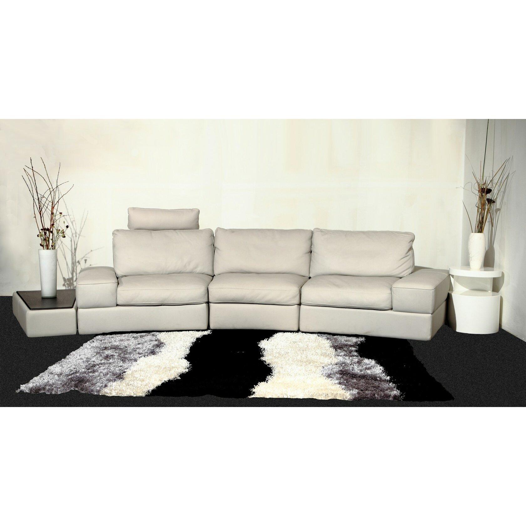 Hokku Designs Modi Leather Modular Sofa Reviews Wayfair